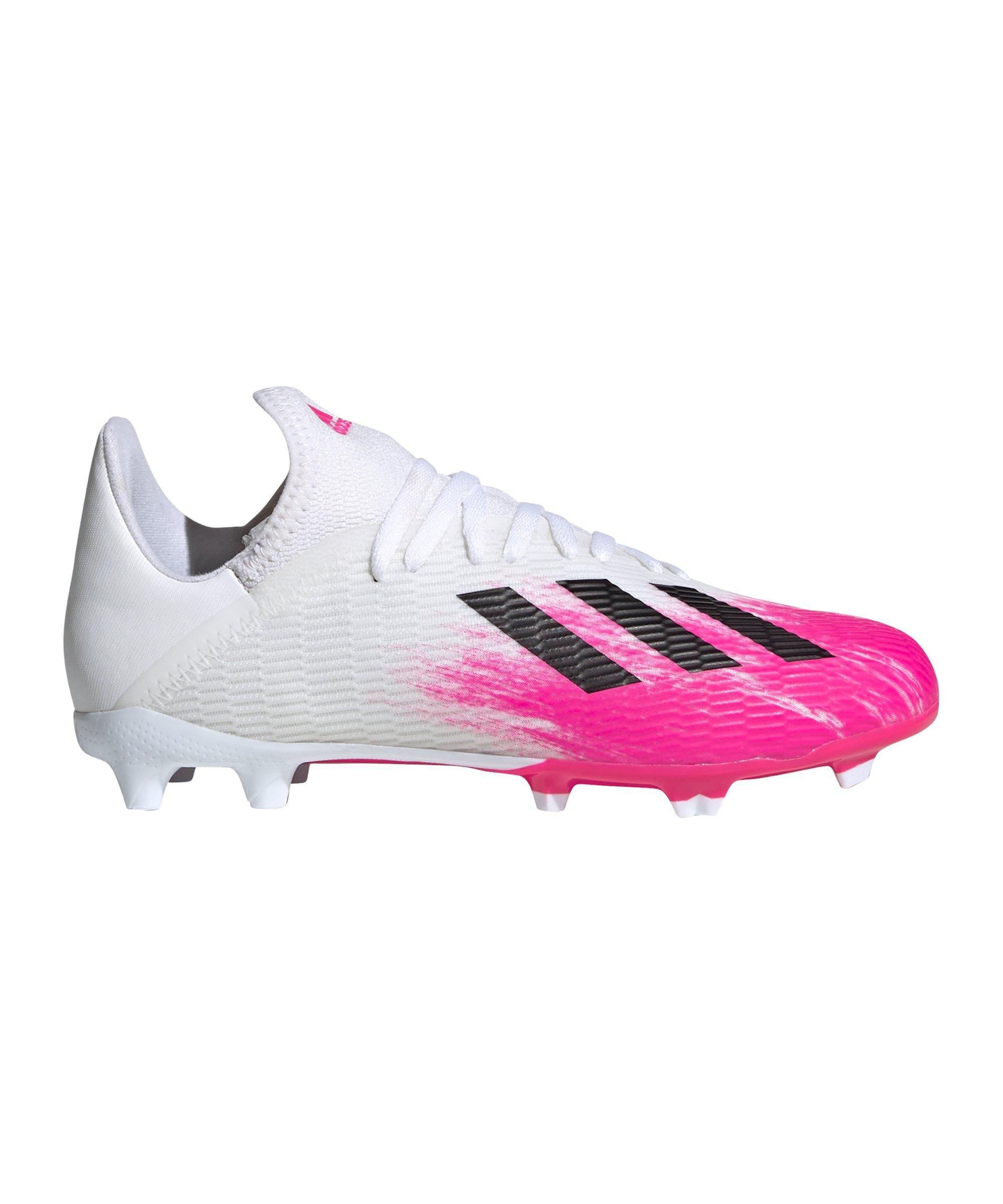 adidas X Uniforia 19.3 FG J Kids Weiss Pink - weiss