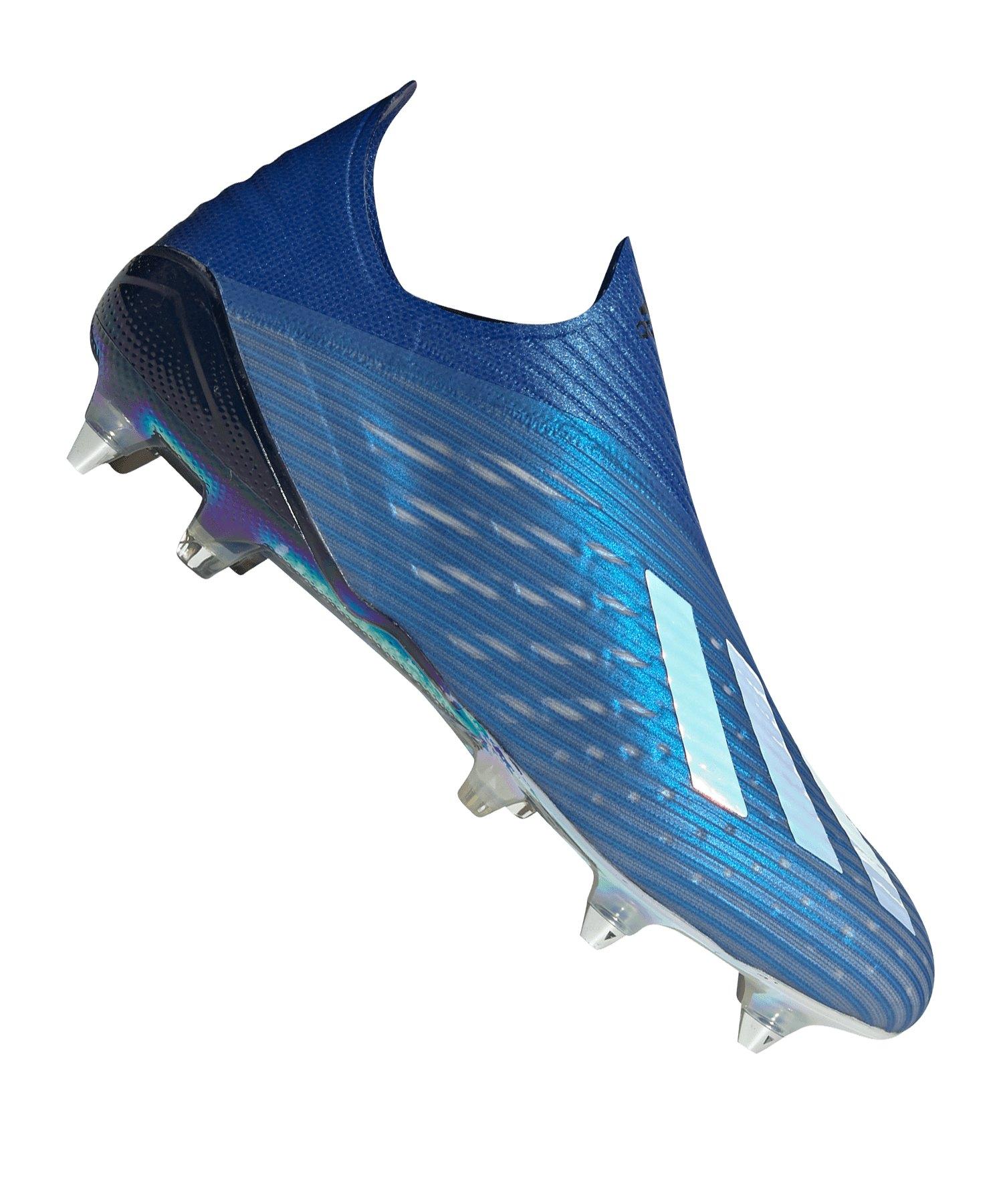adidas X 19+ SG Blau Schwarz - blau