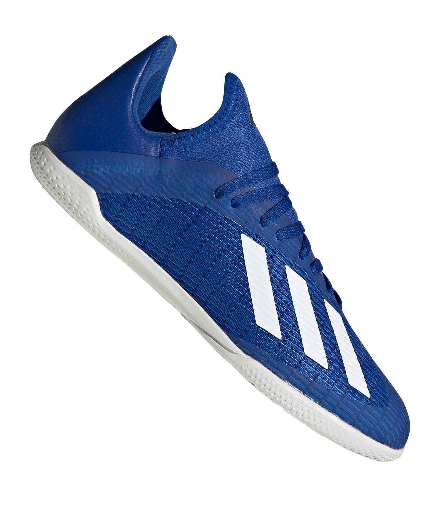 adidas X 19.3 IN Halle J Kids Blau Weiss Schwarz - blau