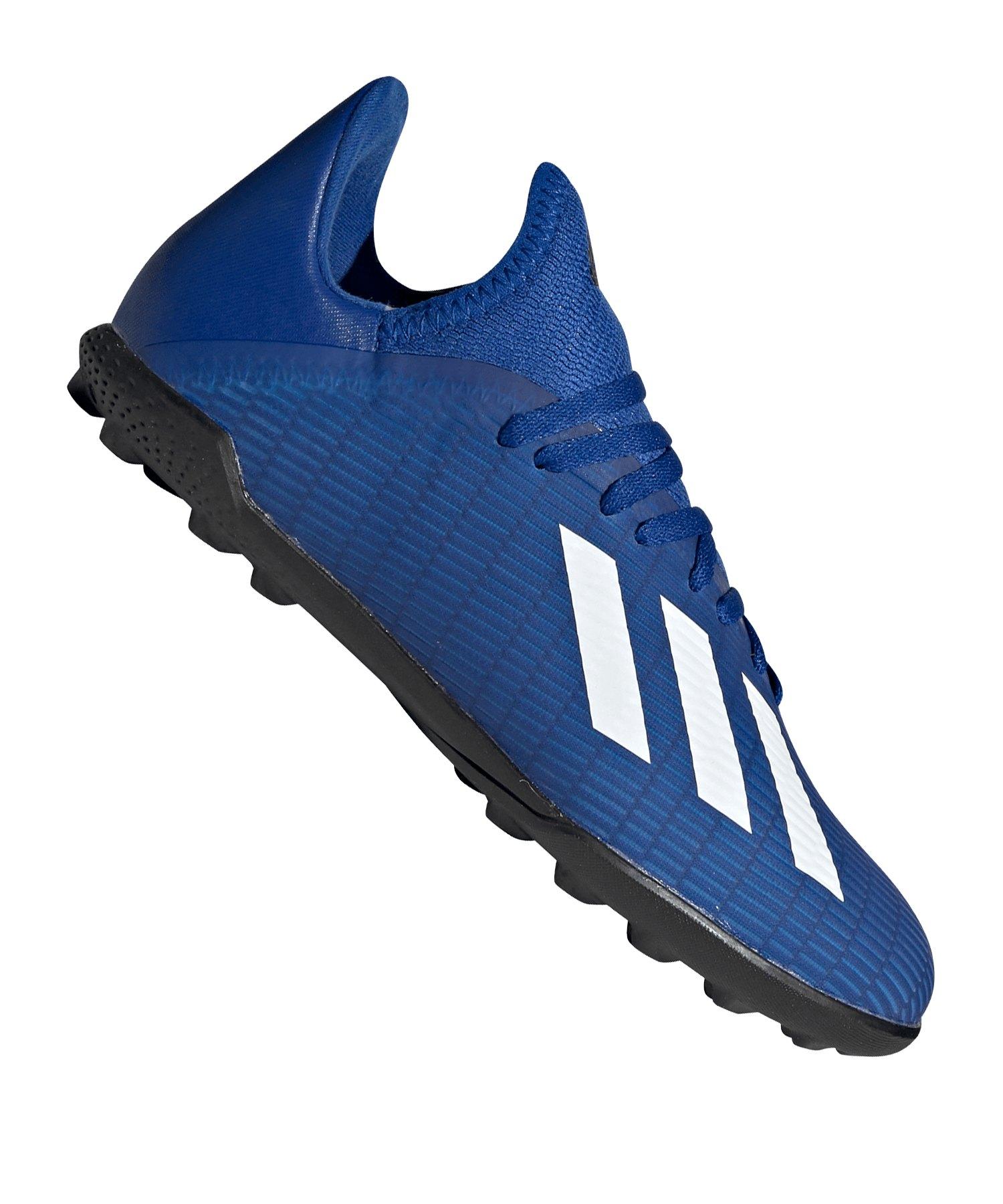 adidas X 19.3 TF J Kids Blau Schwarz - blau