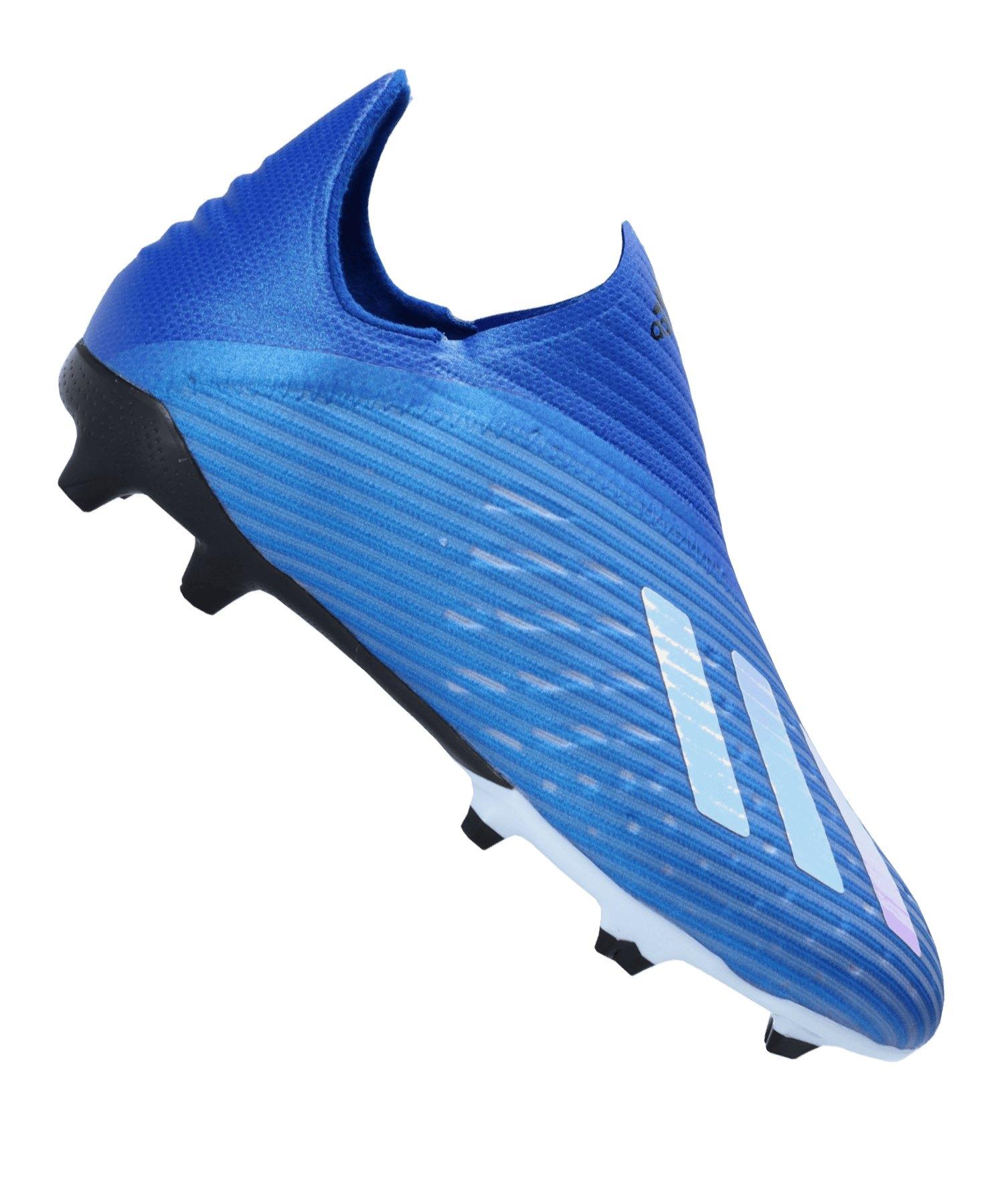 adidas X 19+ FG J Kids Blau Weiss Schwarz - blau
