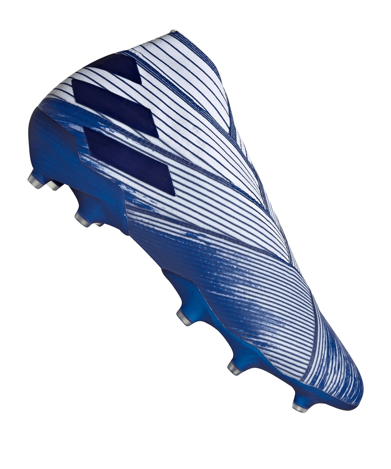 adidas NEMEZIZ 19+ FG Weiss Blau - weiss