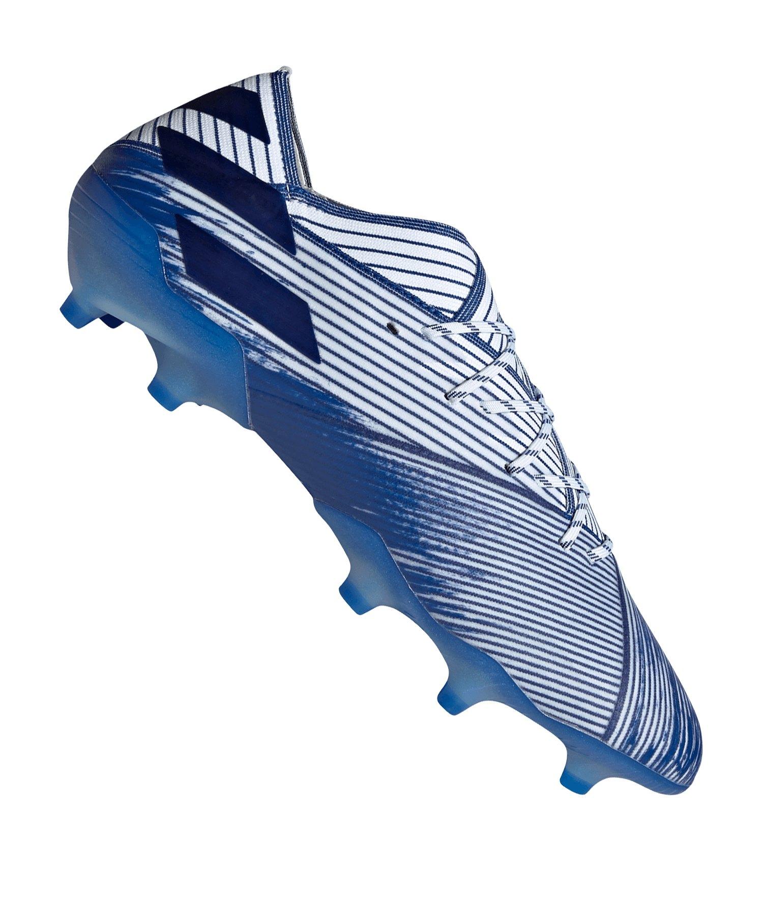 adidas NEMEZIZ 19.1 FG Weiss Blau - weiss