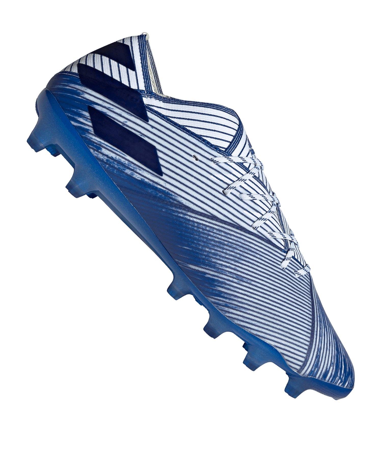 adidas NEMEZIZ 19.1 AG Weiss Blau - weiss