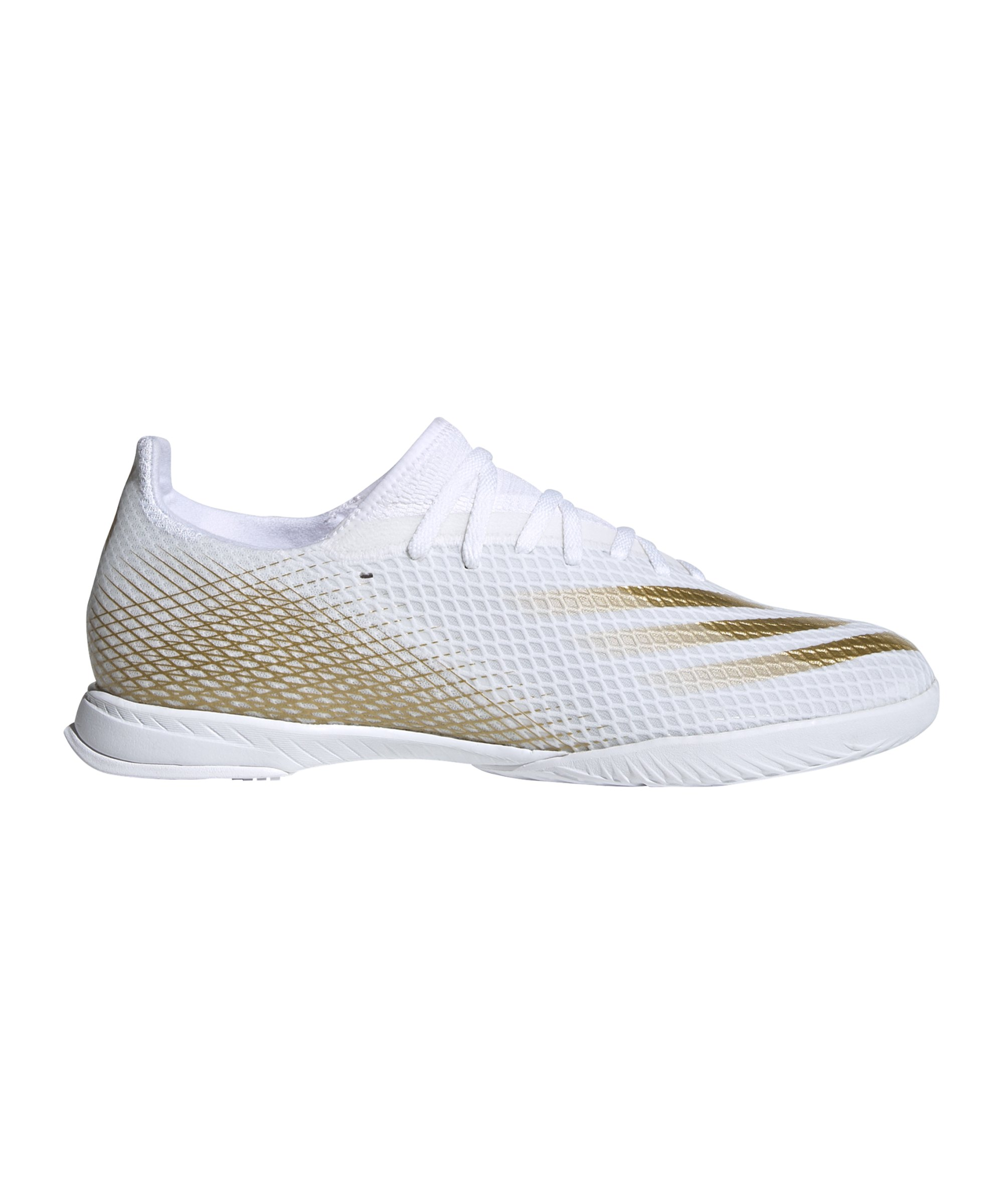 adidas X GHOSTED.3 IN Halle Inflight Weiss Gold - weiss