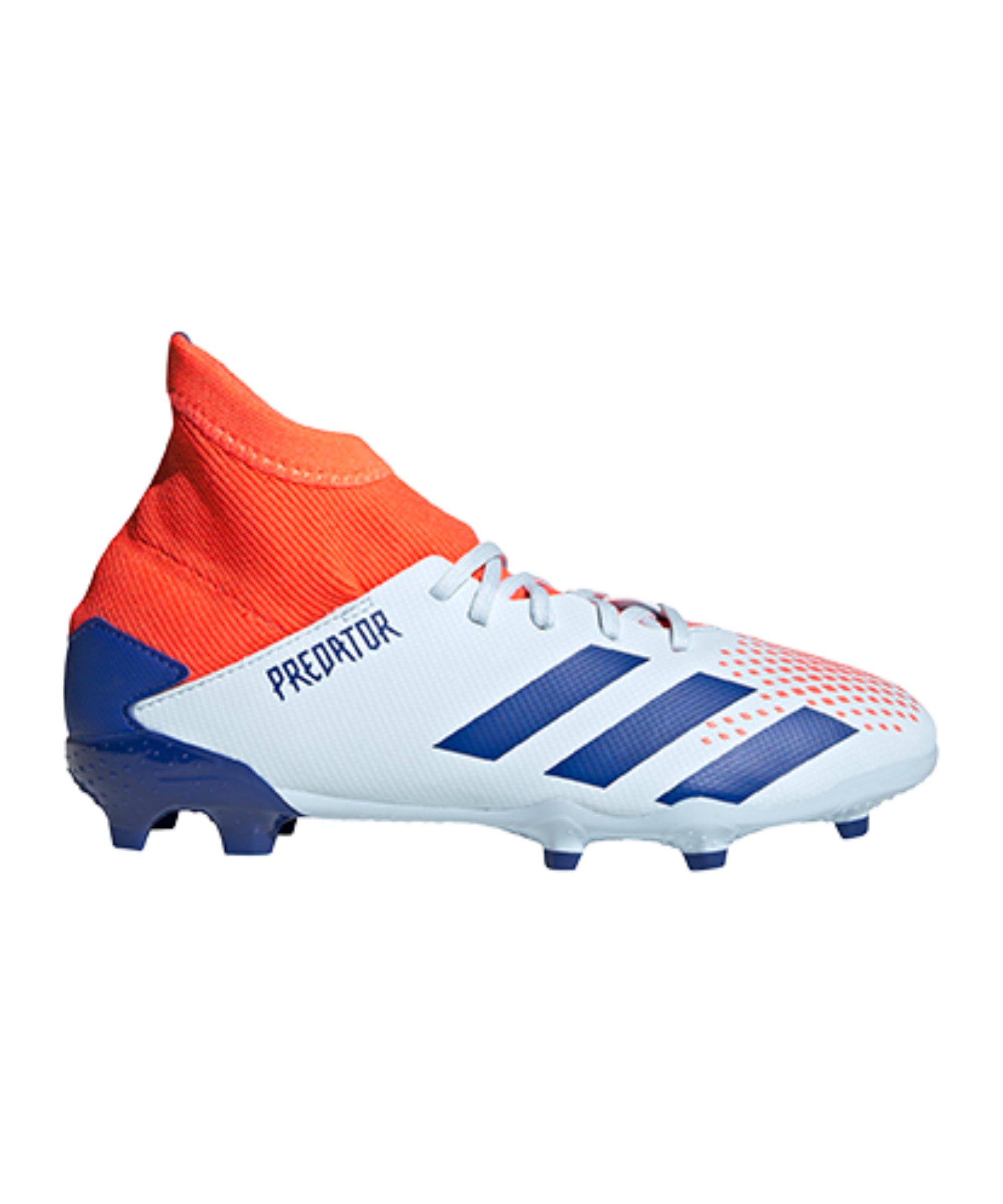 adidas Predator Glory Hunter 20.3 FG J Kids Blau Orange - blau