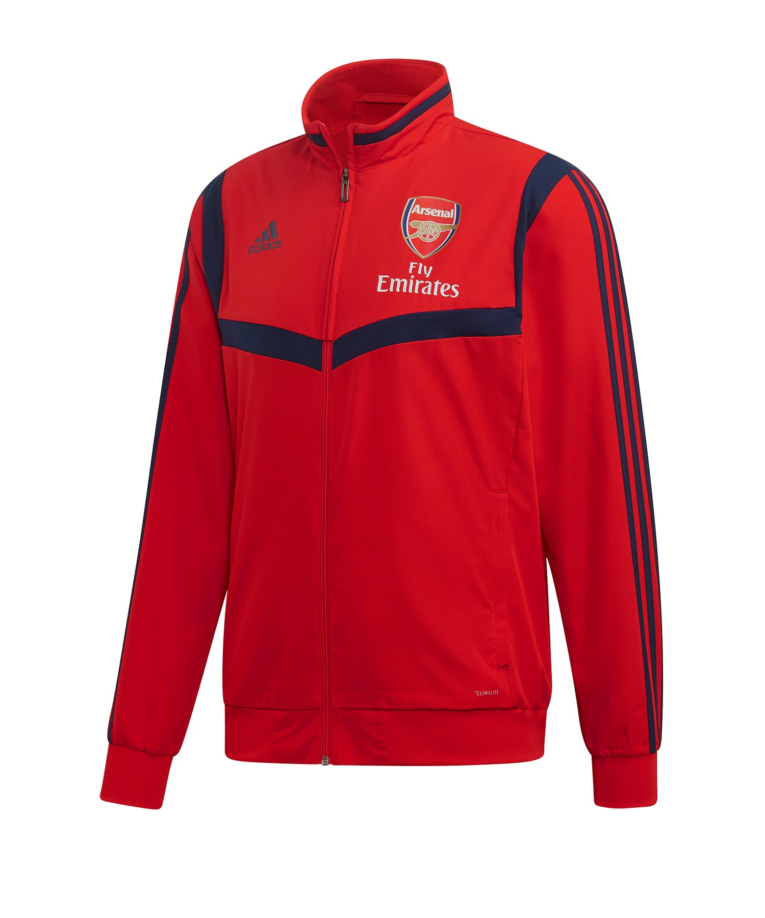adidas FC Arsenal London Präsentationsjacke Rot - rot