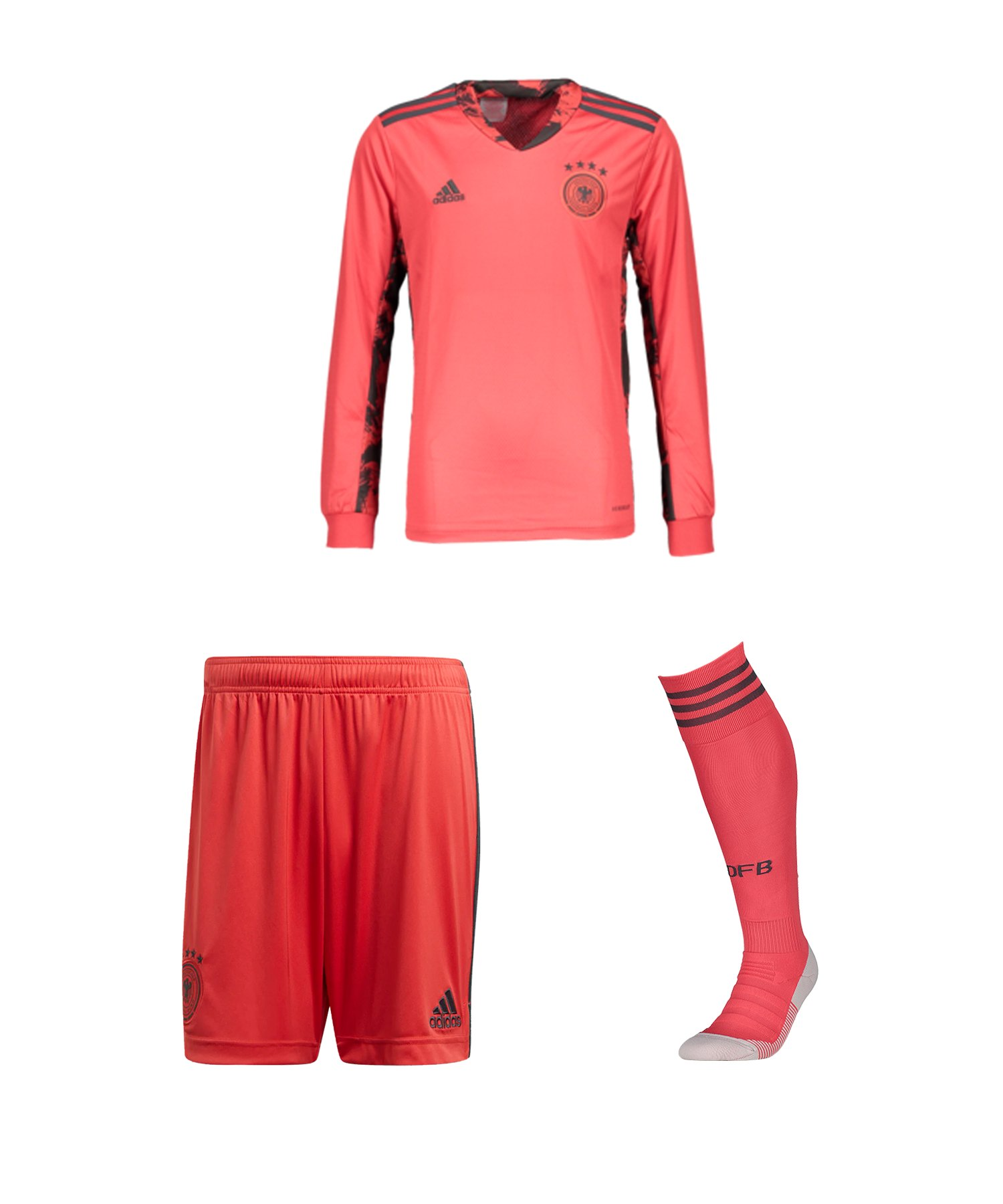 adidas DFB Deutschland TW-Trikotset EM 2020 Kids Rot - rot