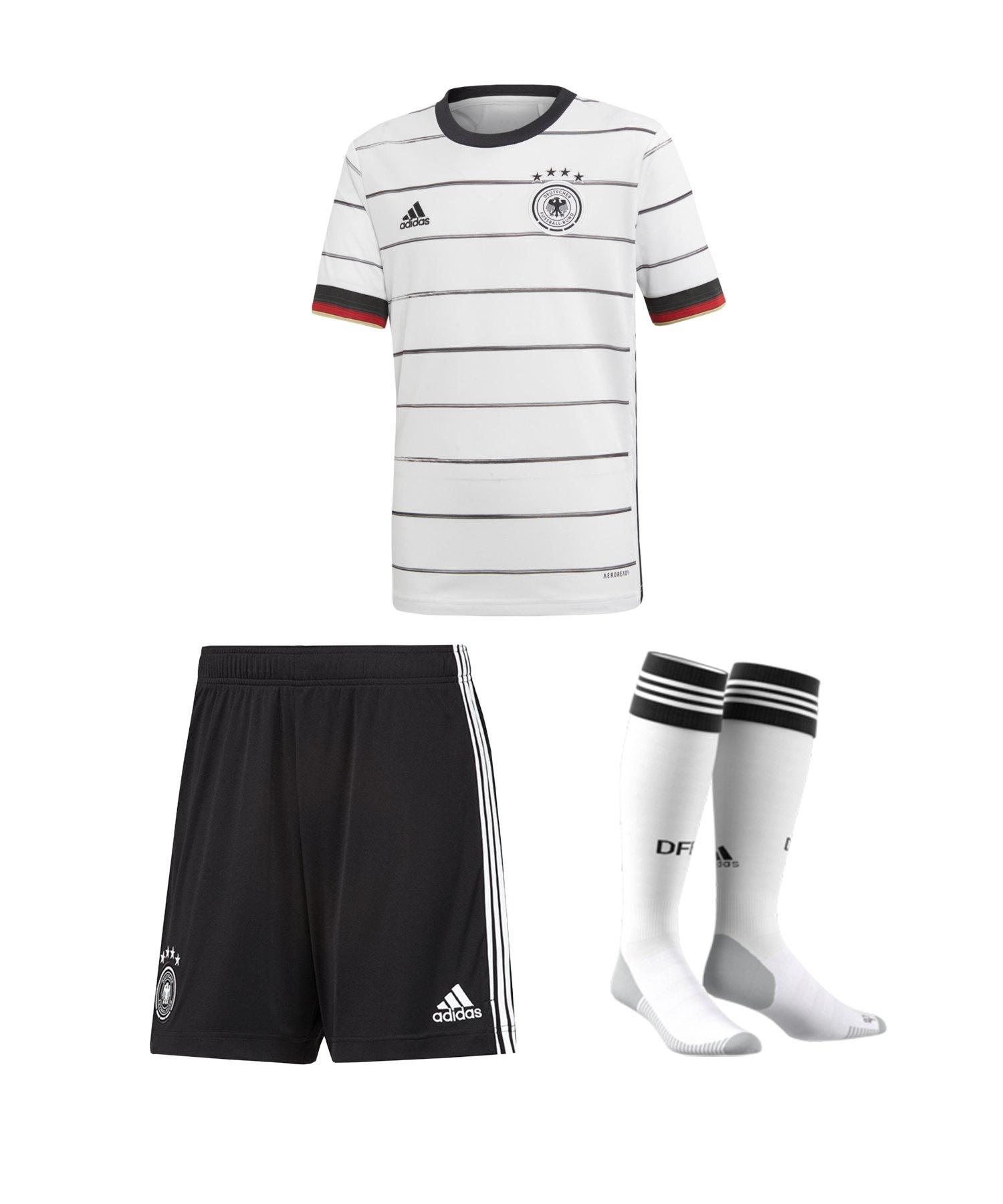 adidas DFB Deutschland Trikotset Home EM 2020 Kids - weiss