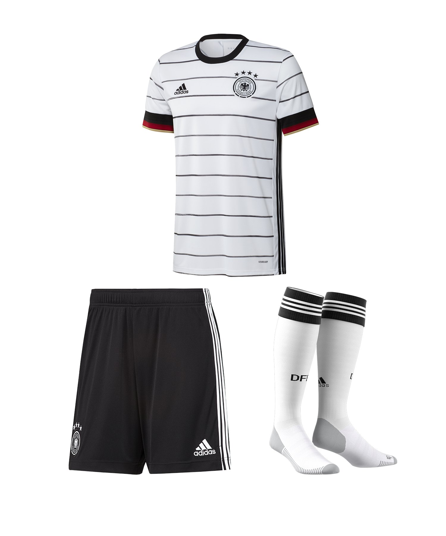 adidas DFB Deutschland Trikotset Home EM 2020 Weiss - weiss