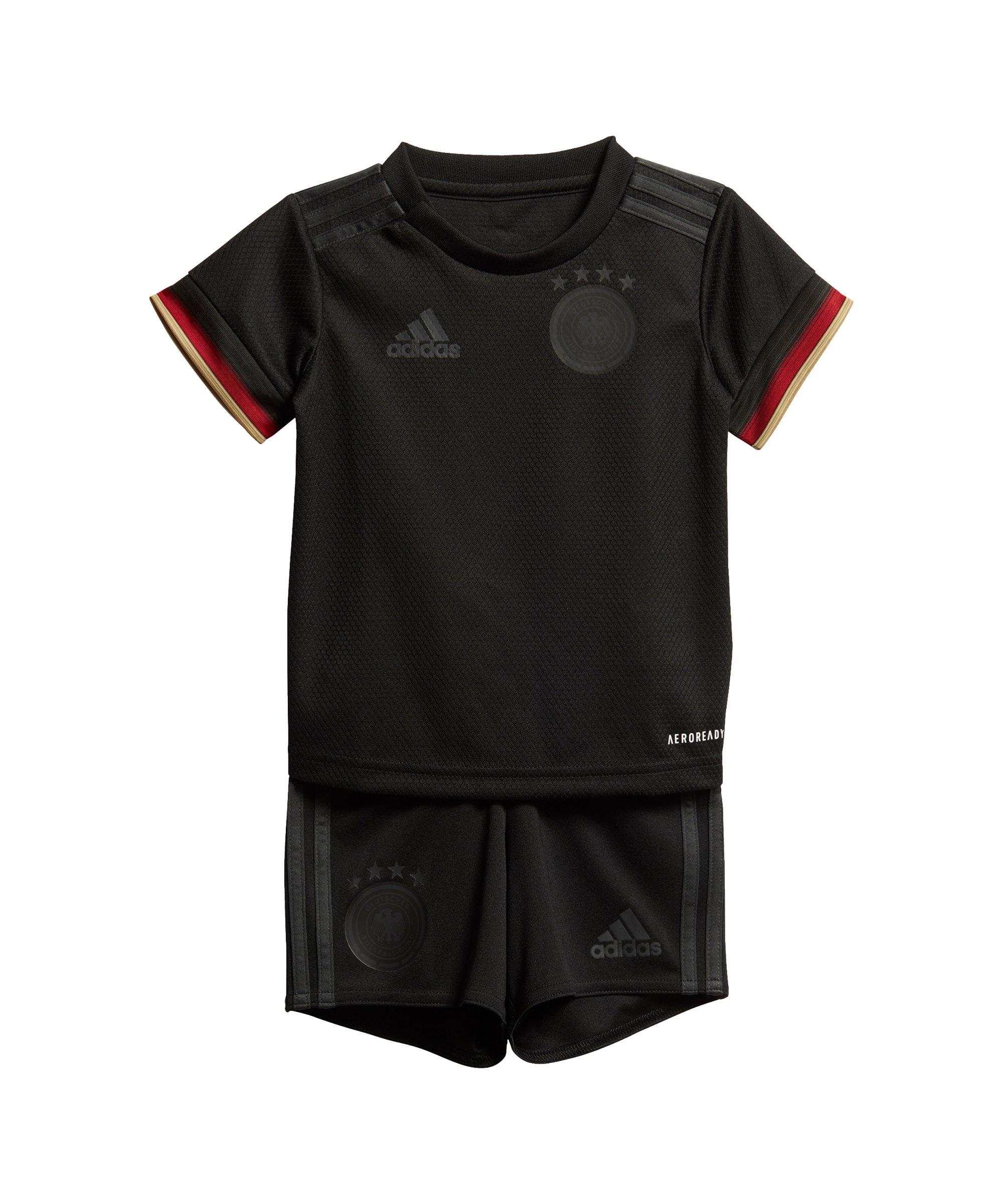 adidas DFB Deutschland Babykit Away EM 2020 Schwarz - schwarz