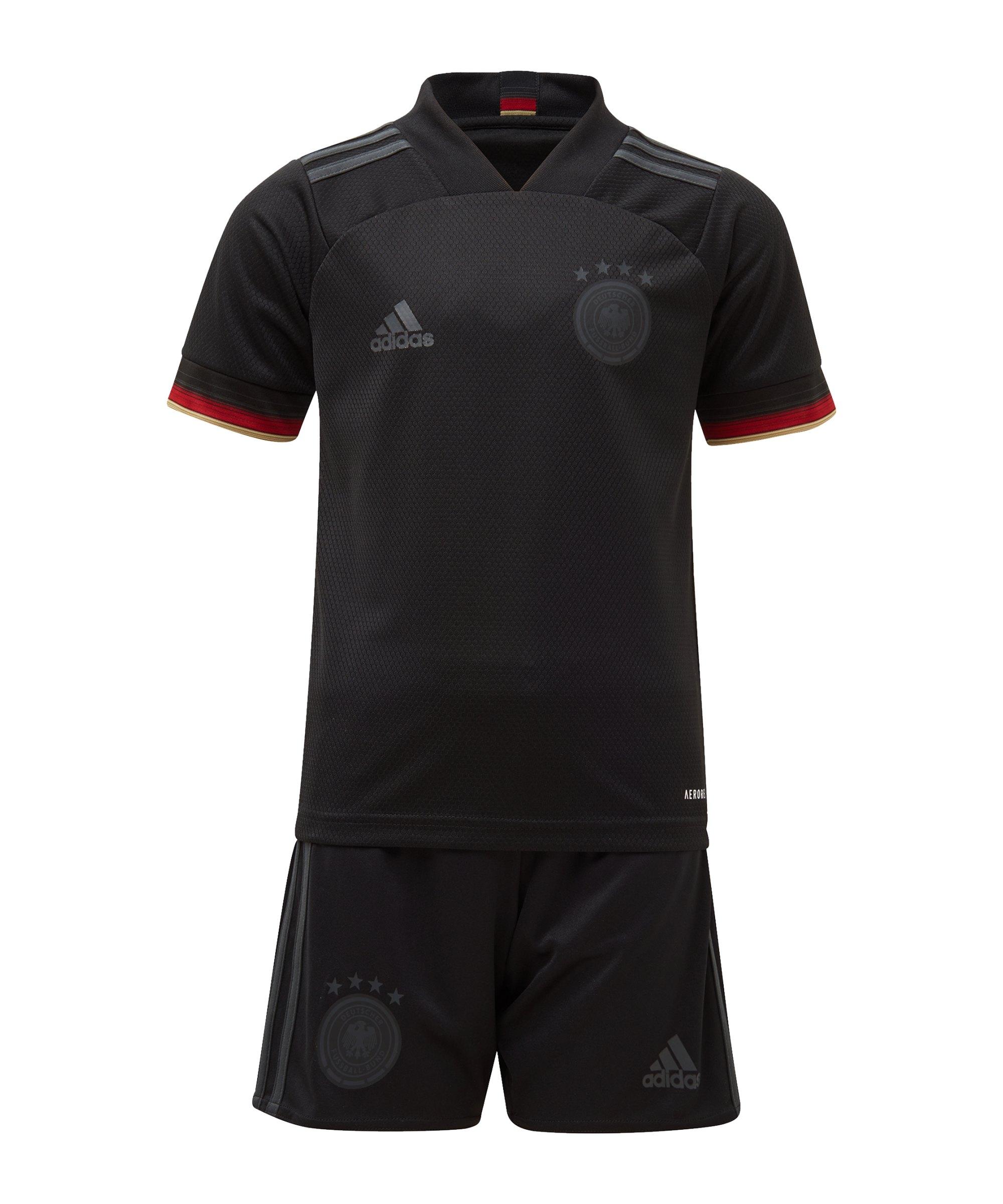 adidas DFB Deutschland Minikit Away EM 2020 Schwarz - schwarz