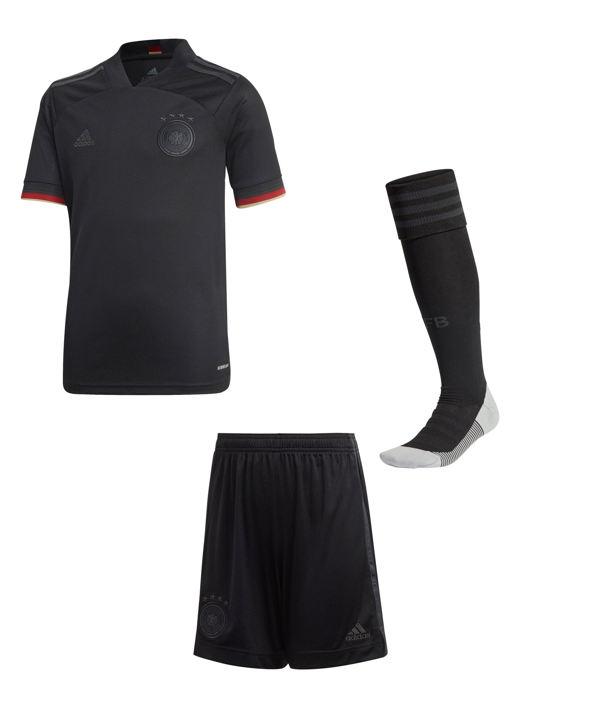 adidas DFB Deutschland Trikotset Away EM 2020 Kids - schwarz