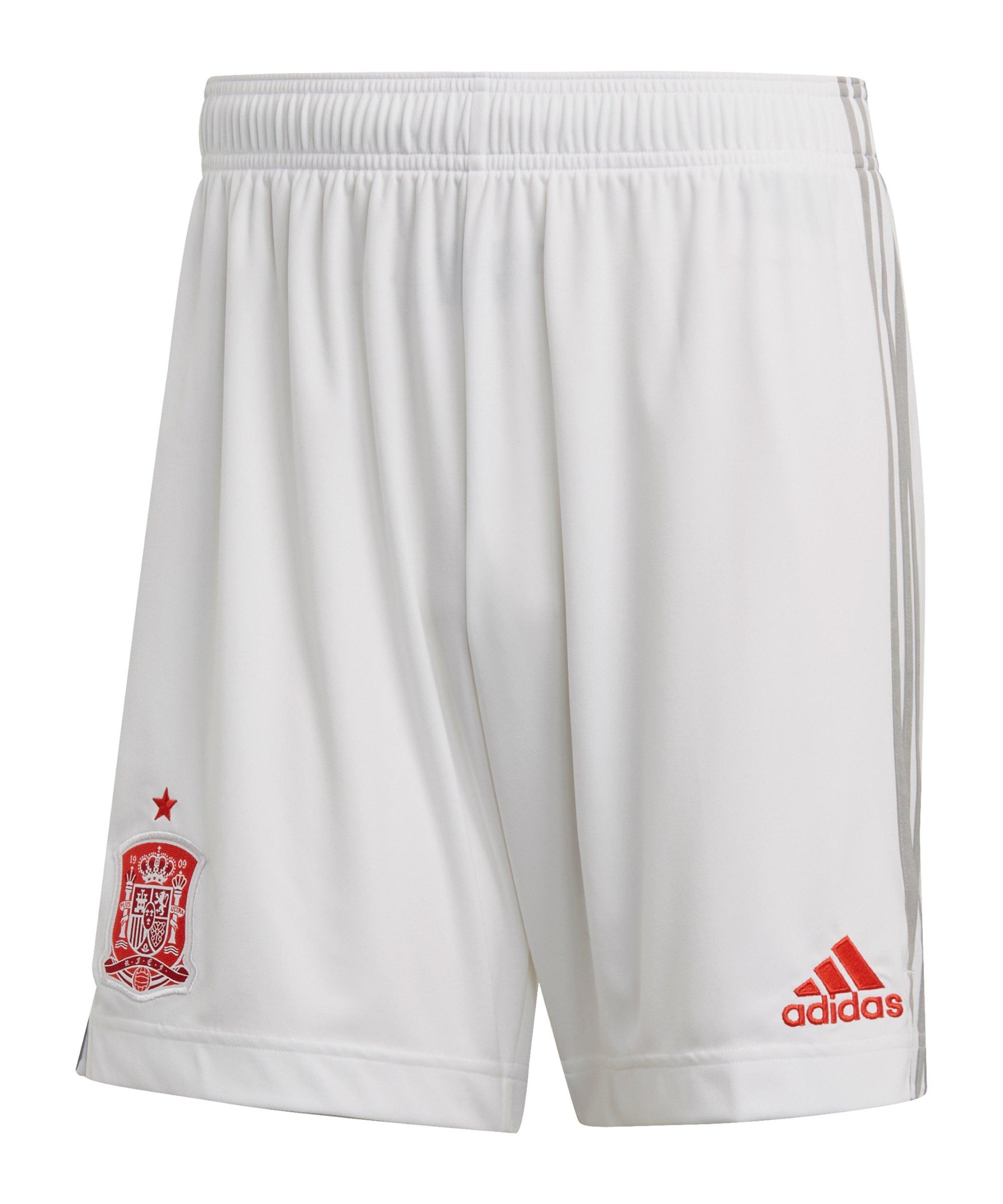 adidas Spanien Short Away EM 2020 Weiss - weiss