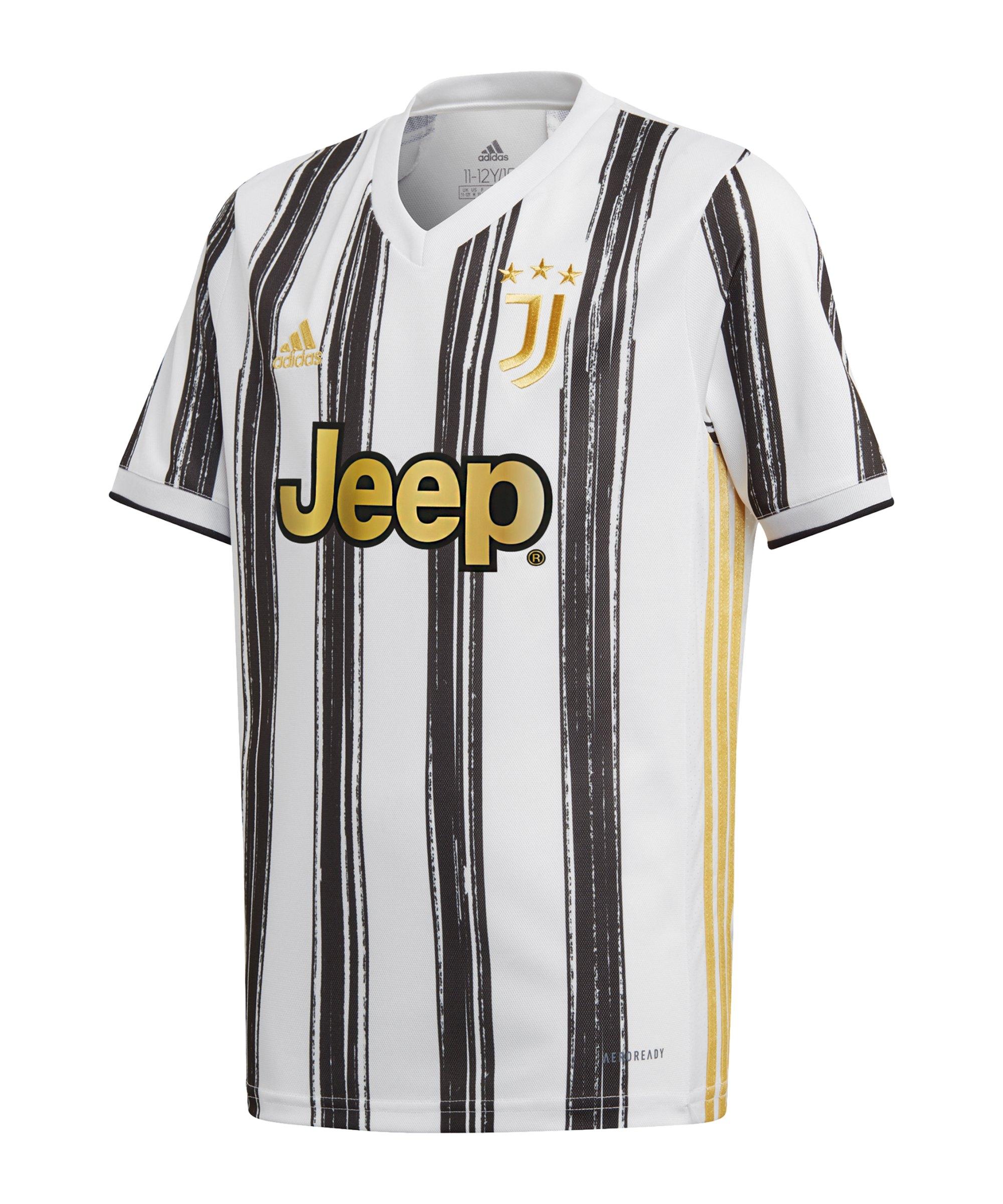 adidas Juventus Turin Trikot Home 2020/2021 Kids - weiss