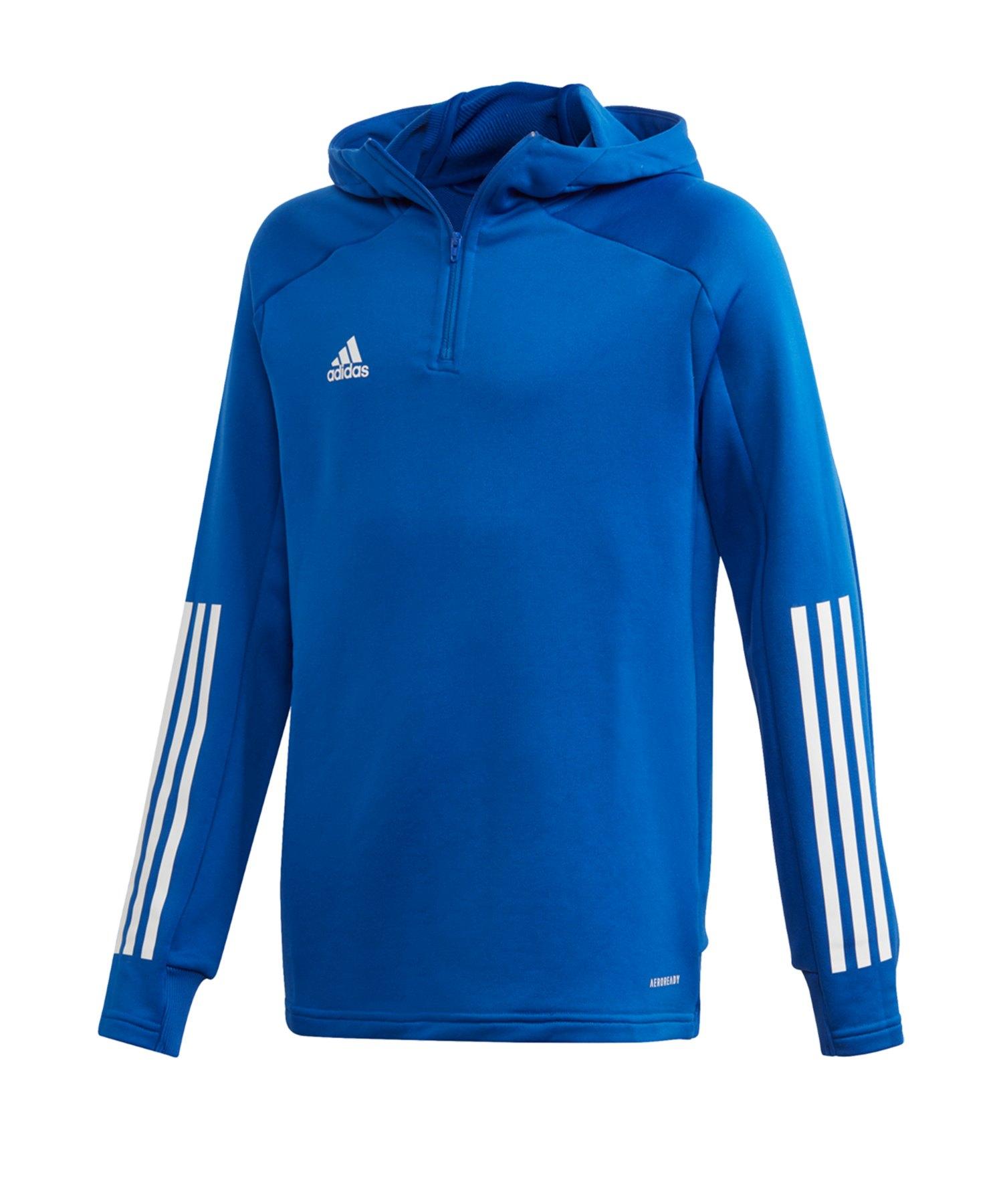 adidas Condivo 20 Kapuzensweatshirt Kids Blau - blau