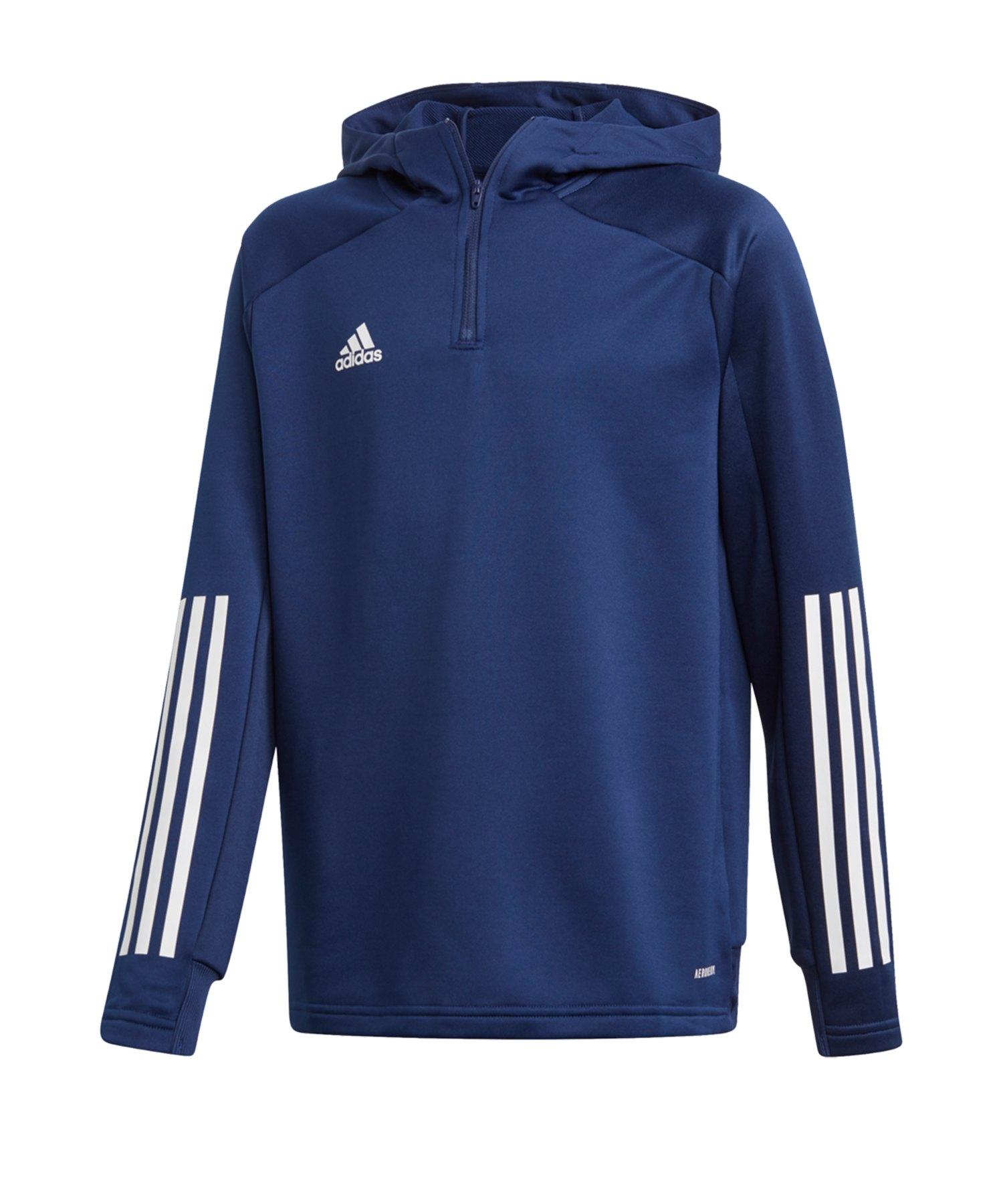 adidas Condivo 20 Kapuzensweatshirt Kid Dunkelblau - blau
