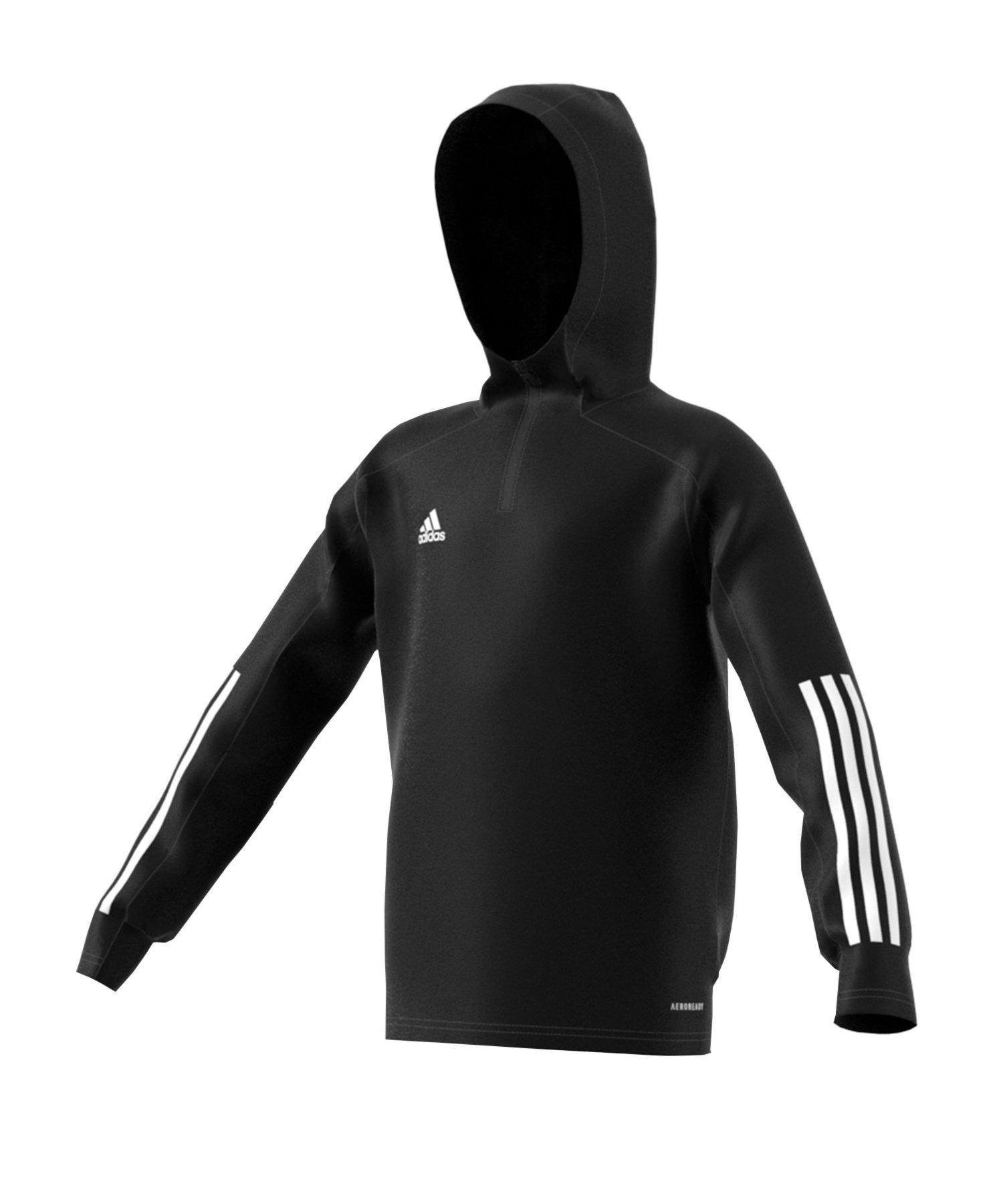 adidas Condivo 20 Kapuzensweatshirt Kids Schwarz - schwarz