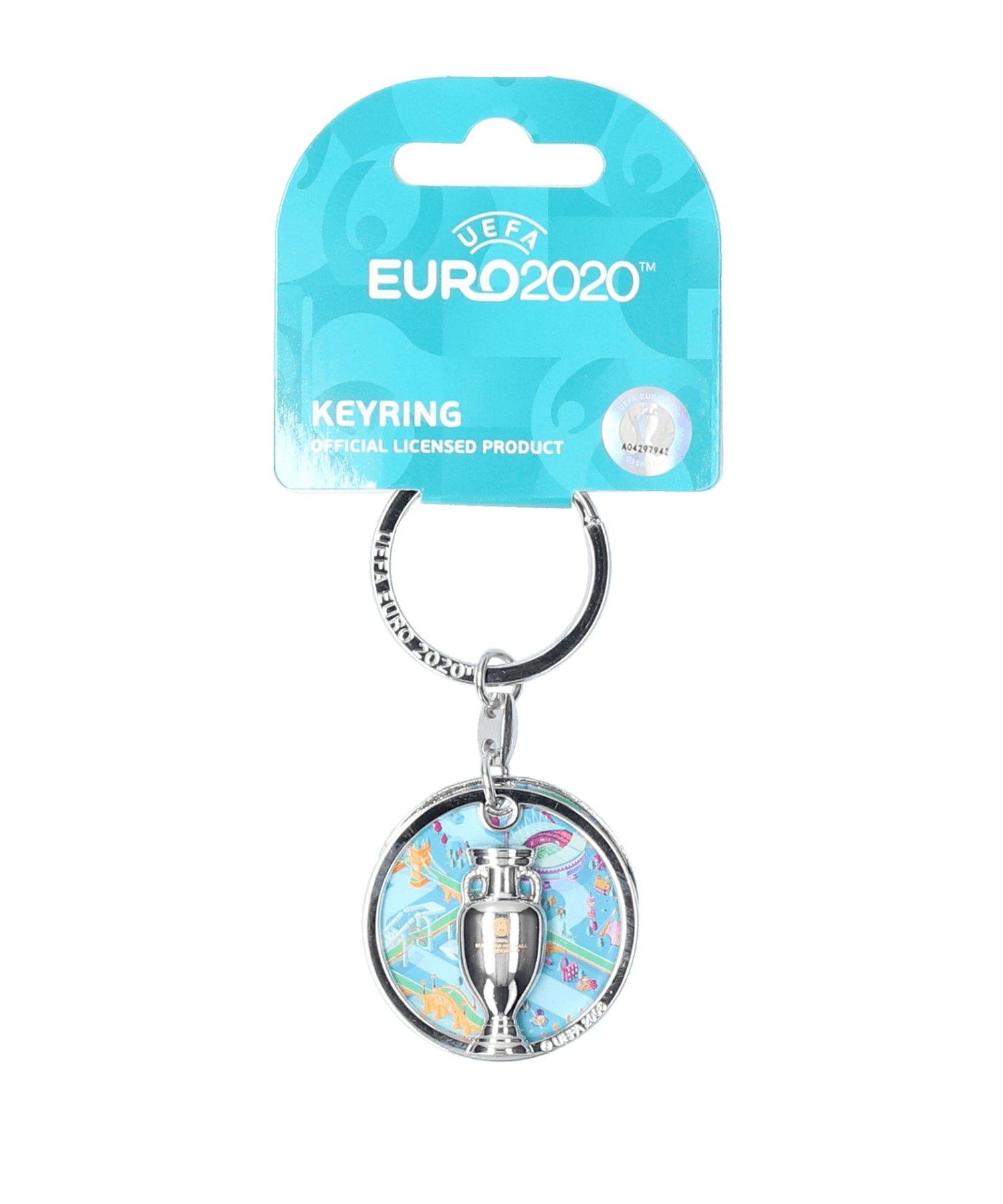 FIFA EM 2020 - Keyring Offset Schlüsselanhänger - silber