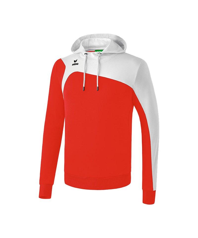 Erima Kapuzensweatshirt Club 1900 2.0 Rot Weiss - rot