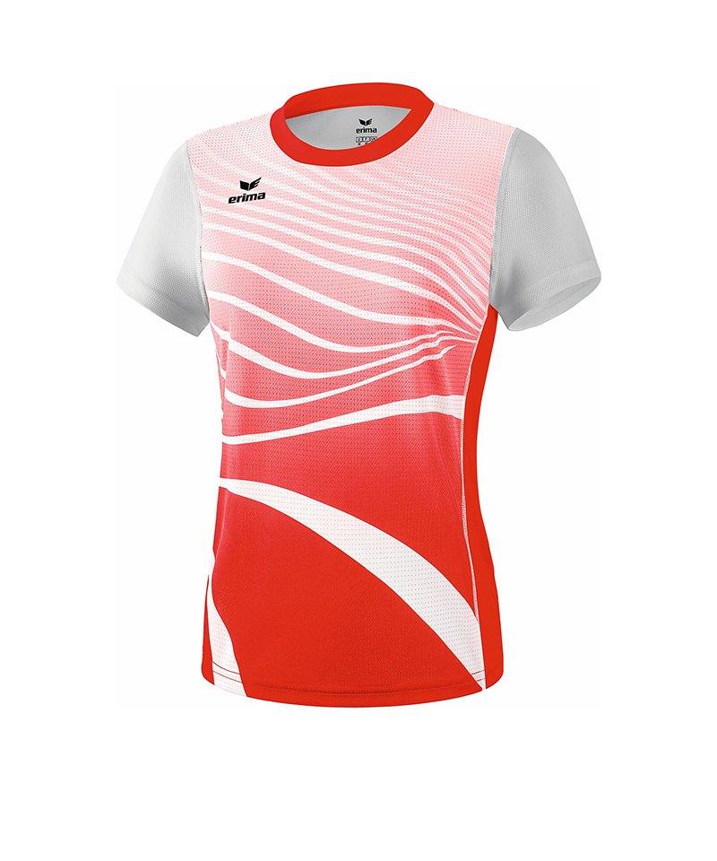 Erima T-Shirt Running Damen Rot Weiss - rot