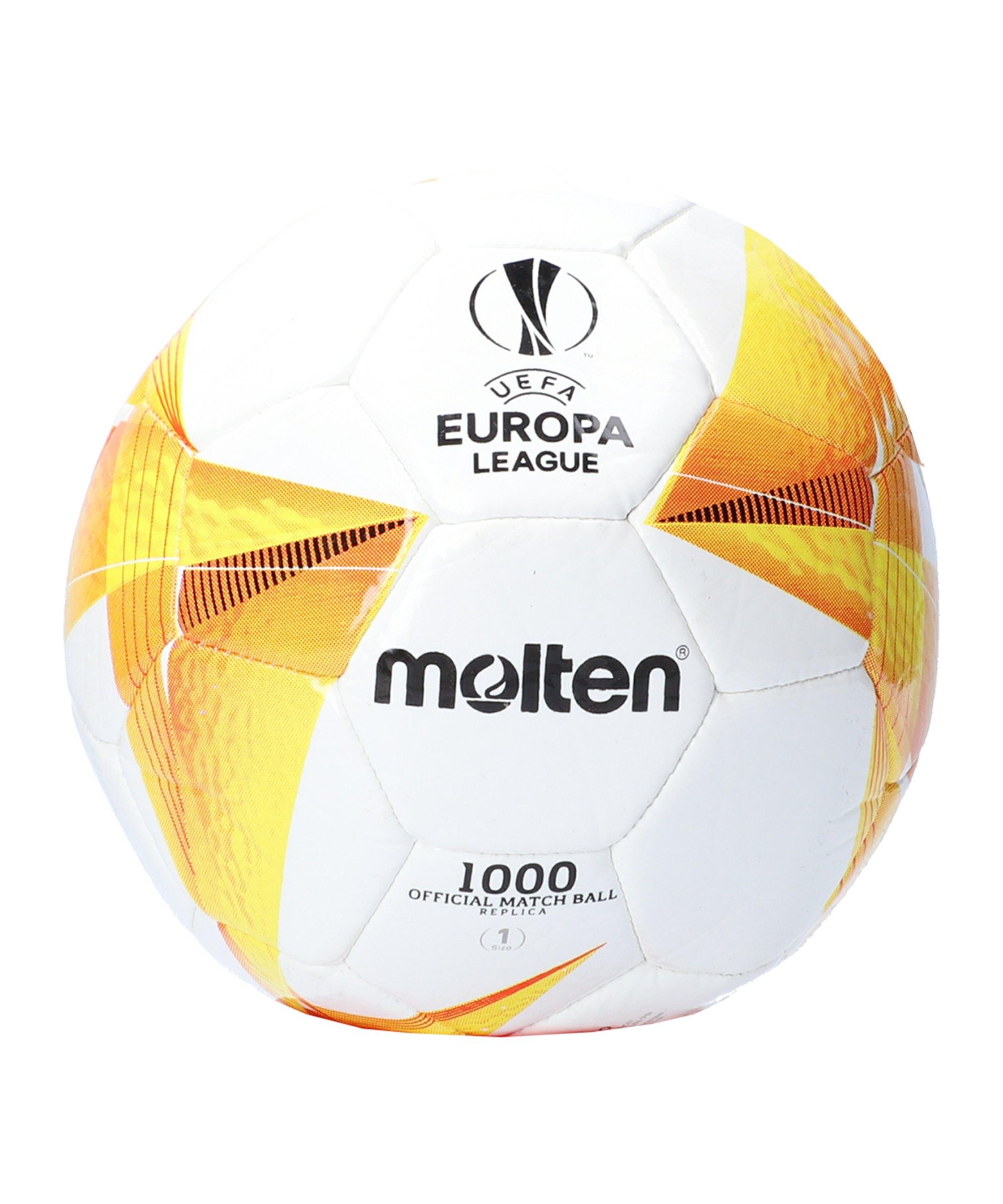 Molten Europa League 20/21 Mini Promo Ball Weiss - weiss