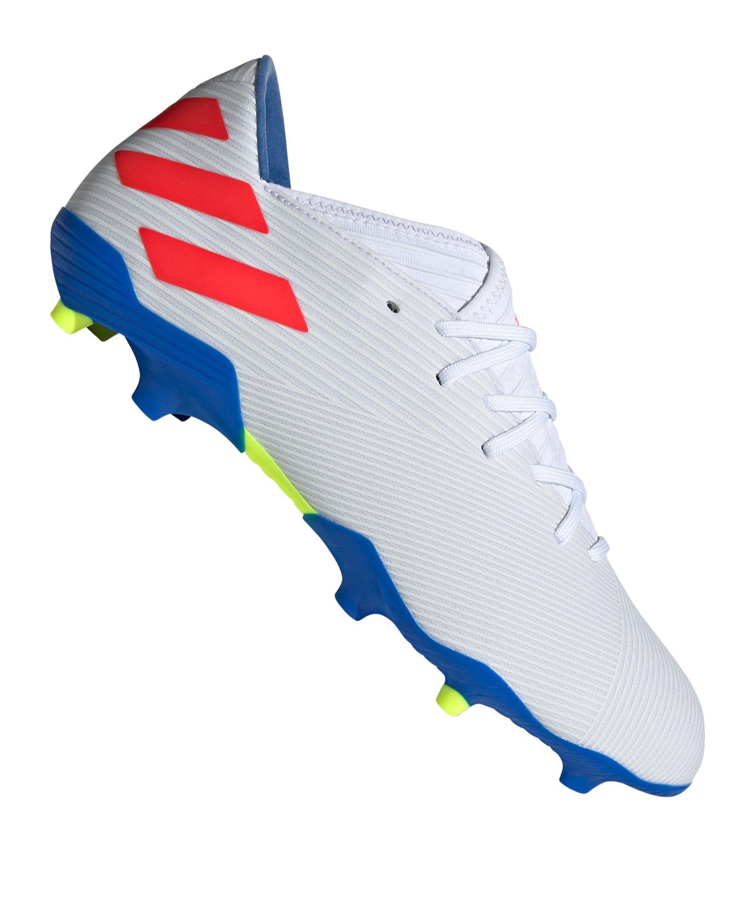 adidas NEMEZIZ Messi 19.3 FG Weiss Blau - Weiss