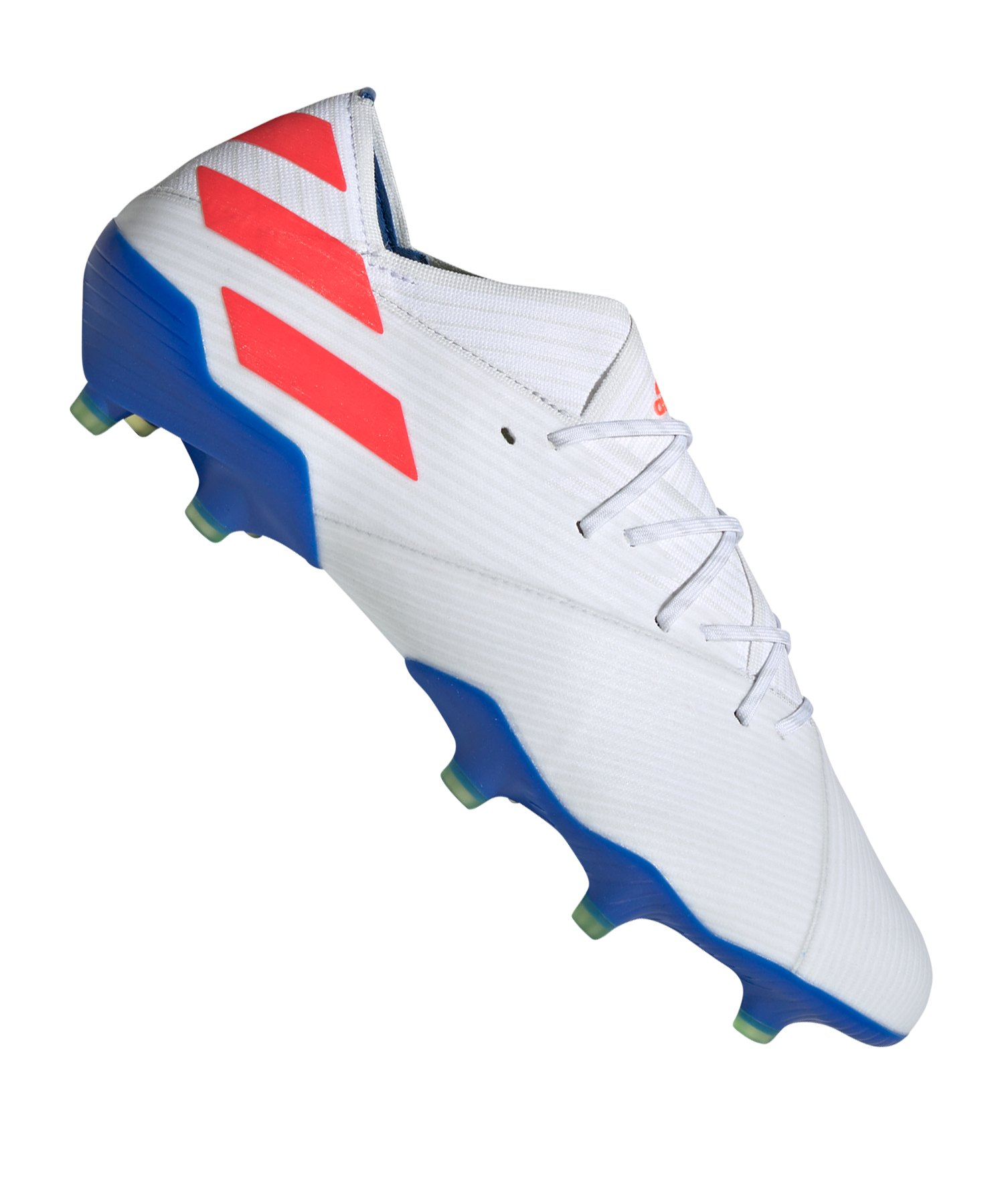 adidas NEMEZIZ Messi 19.1 FG Weiss Blau - Weiss