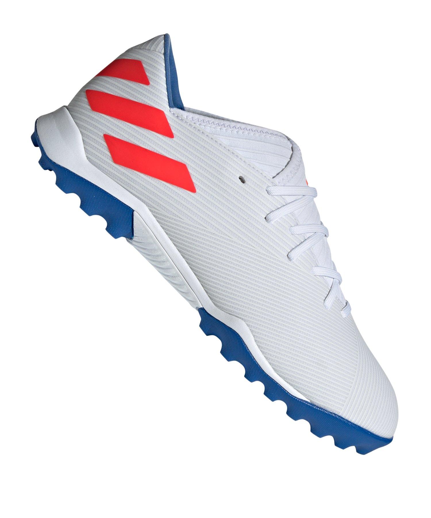 adidas NEMEZIZ Messi 19.3 TF Weiss Blau - Weiss