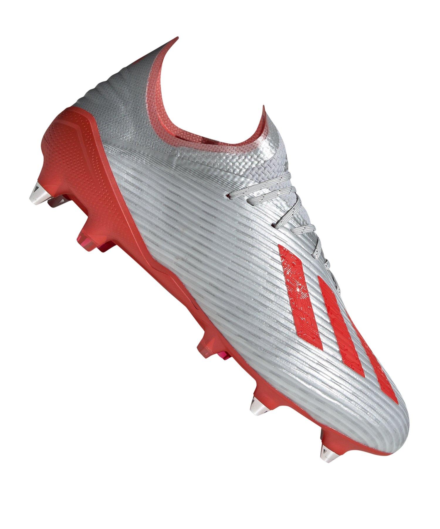adidas X 19.1 SG Silber Rot - Silber