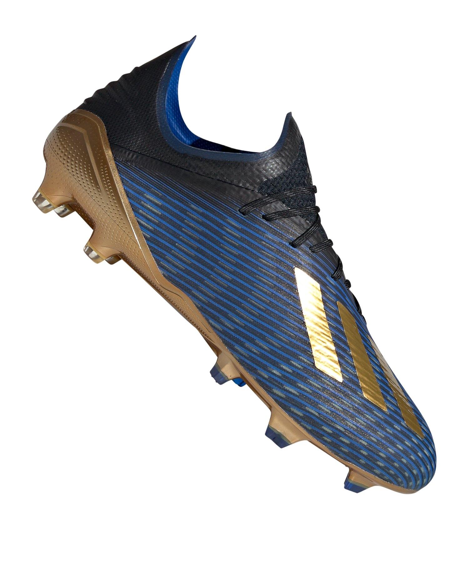 adidas X 19.1 FG Blau Gold Schwarz - blau