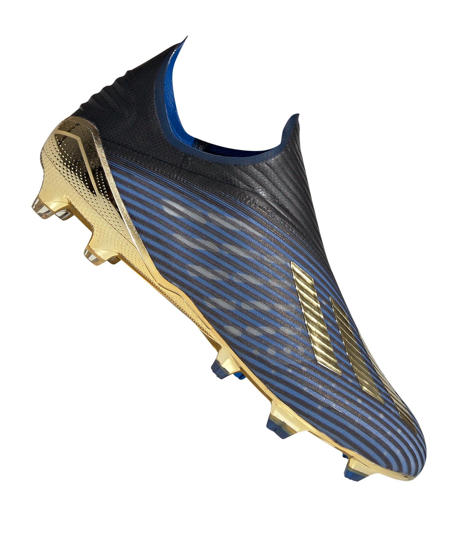 adidas X 19+ FG Blau Gold Schwarz - blau
