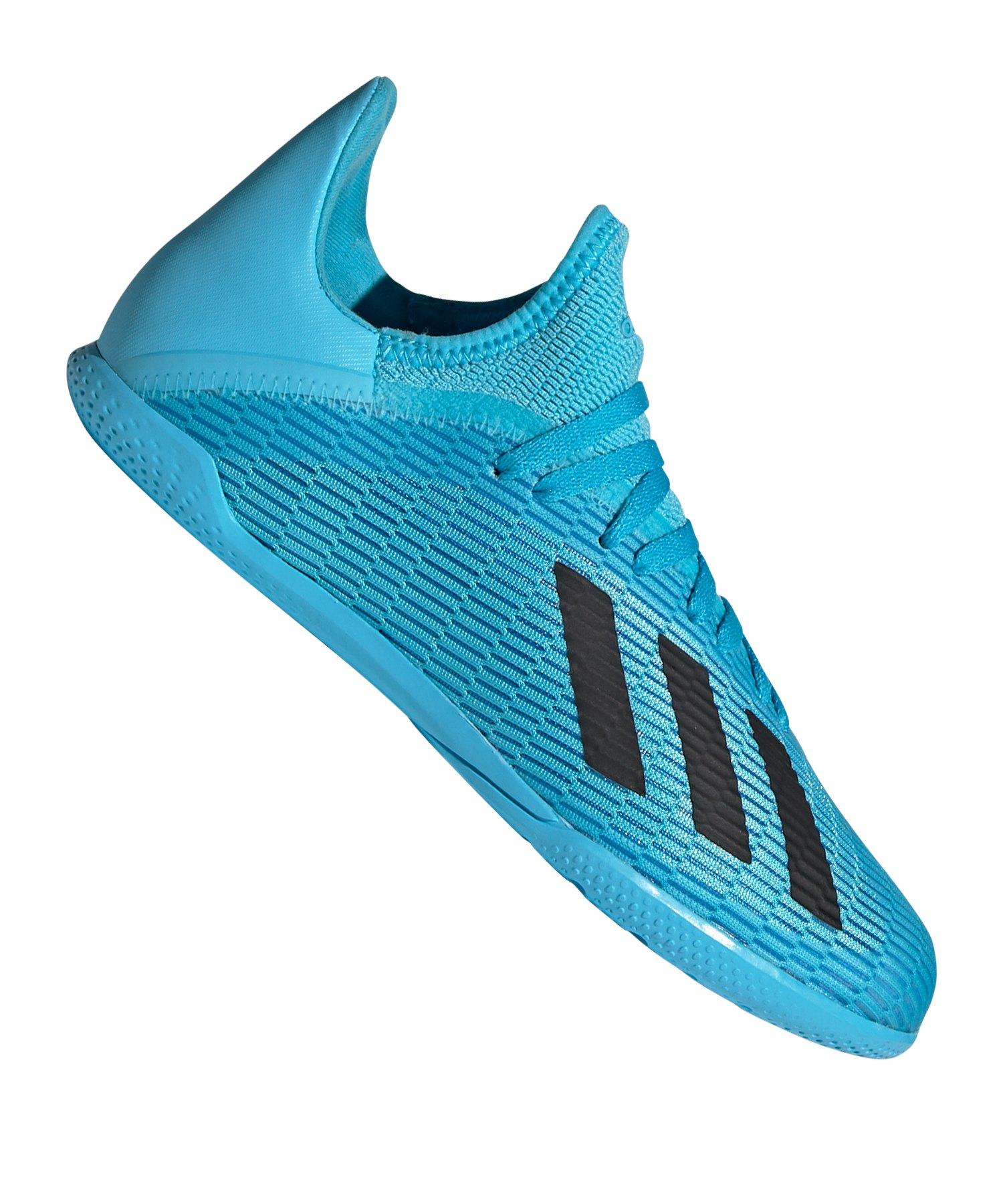 adidas X 19.3 IN Halle J Kids Türkis - blau