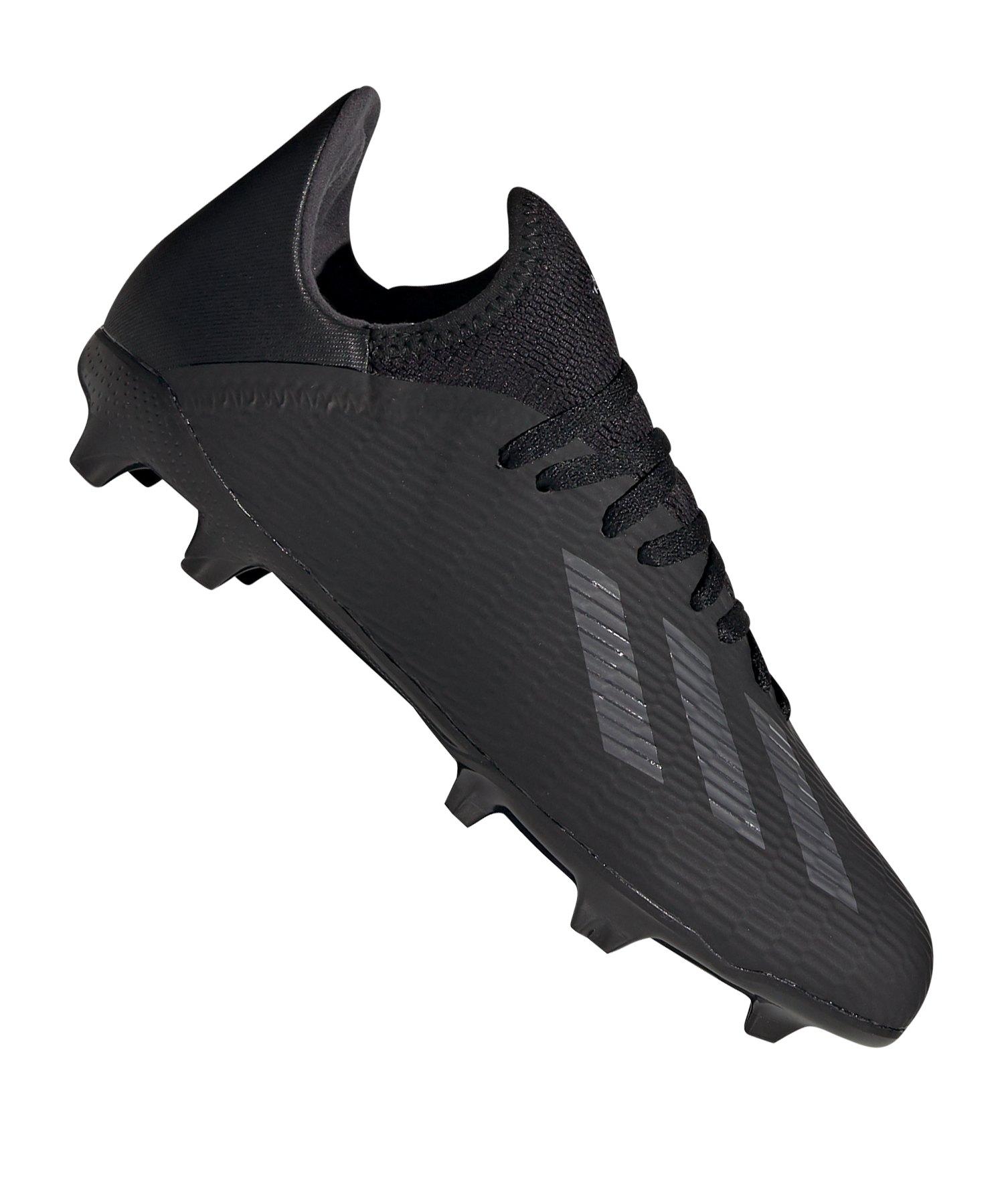 adidas X 19.3 FG J Kids Schwarz Silber - Schwarz