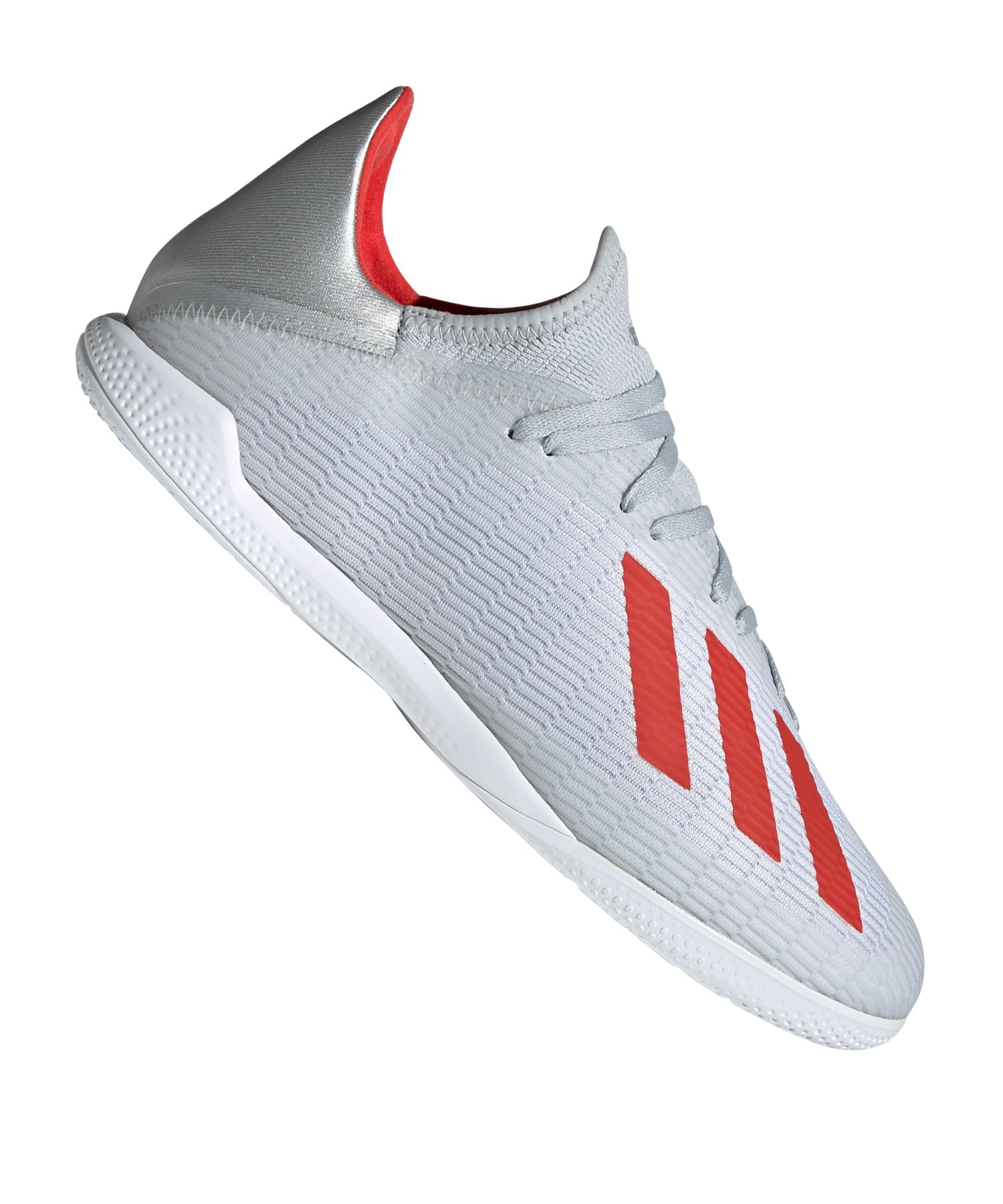 adidas X 19.3 IN Halle Silber Rot - Silber