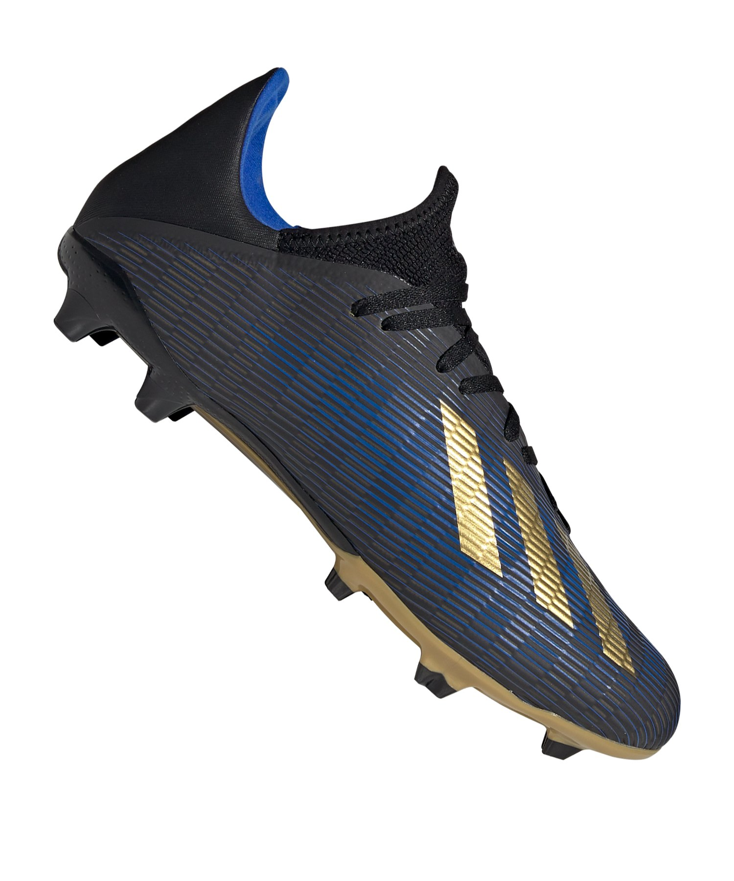 adidas X 19.3 FG Schwarz Blau Gold - schwarz