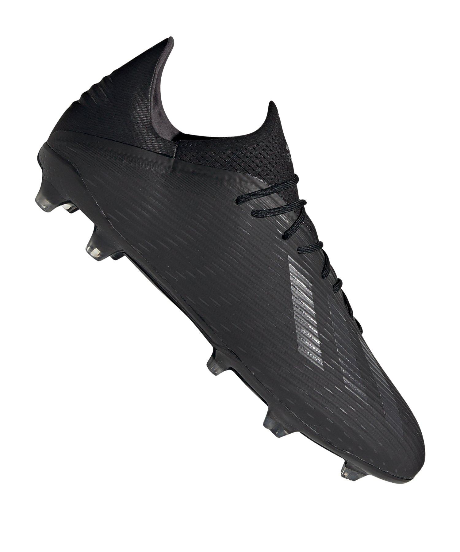 adidas X 19.2 FG Schwarz - schwarz