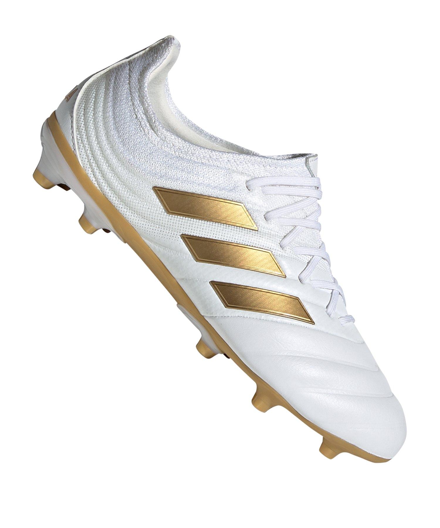 adidas COPA 19.1 FG J Kids Weiss Gold - weiss