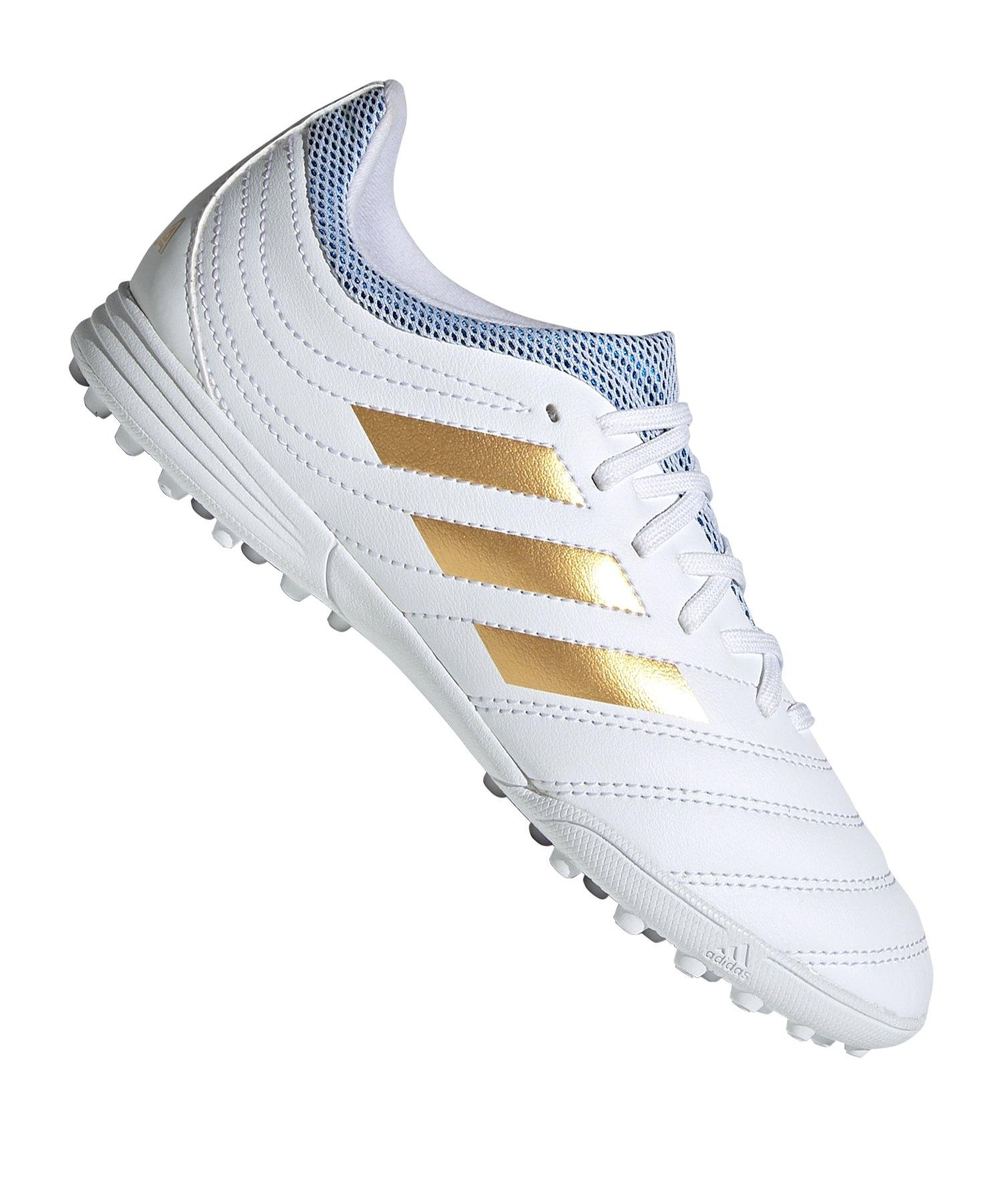adidas COPA 19.3 TF J Kids Weiss Gold - weiss
