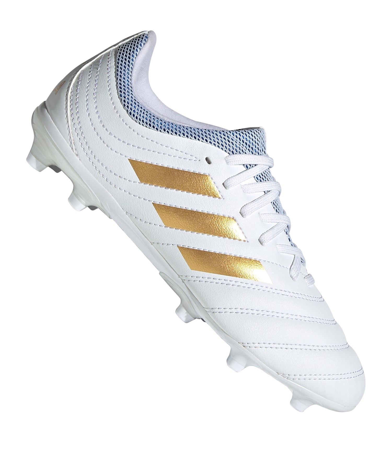 adidas COPA 19.3 FG J Kids Weiss Gold - weiss