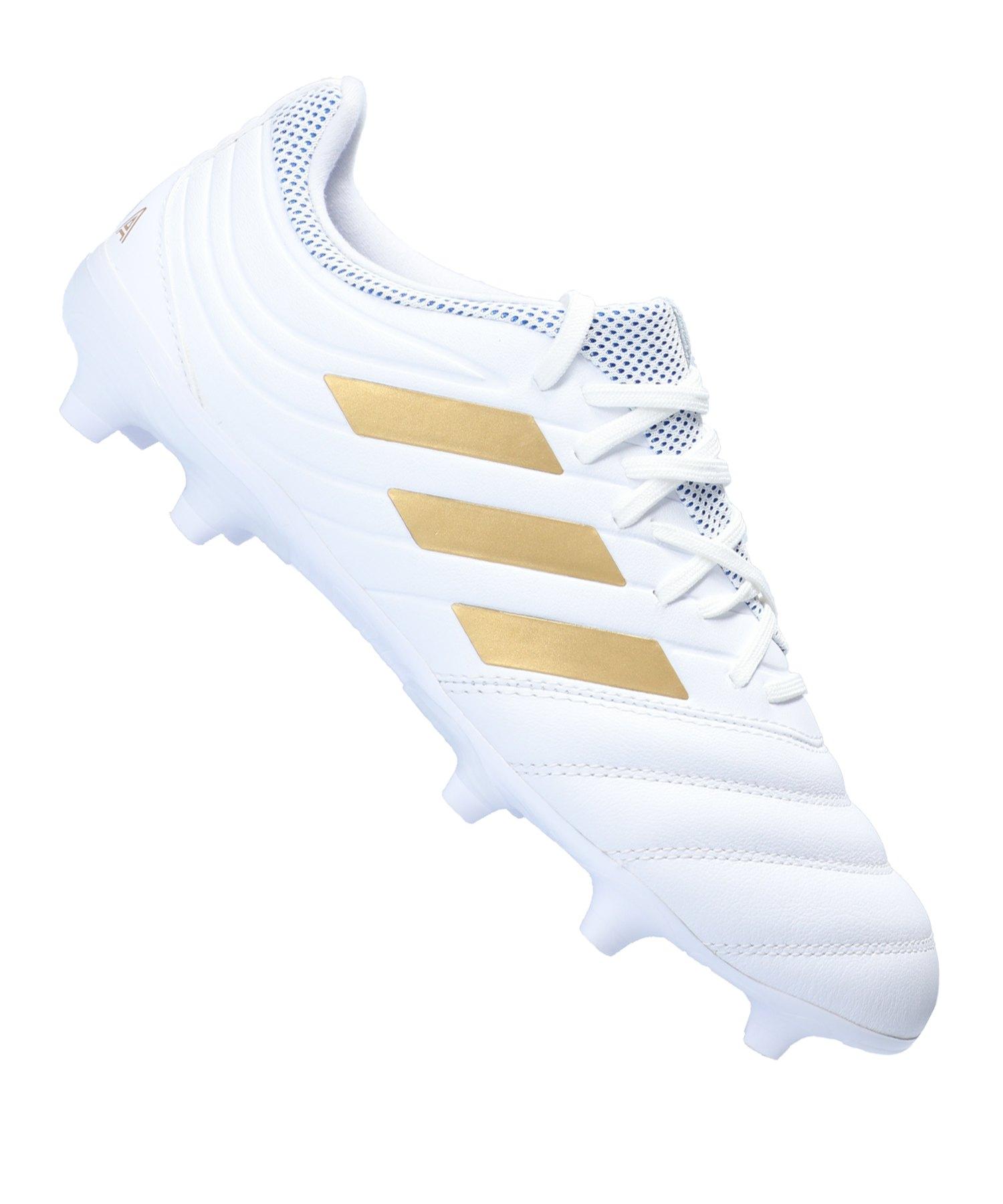 adidas COPA 19.3 FG Weiss Gold - weiss