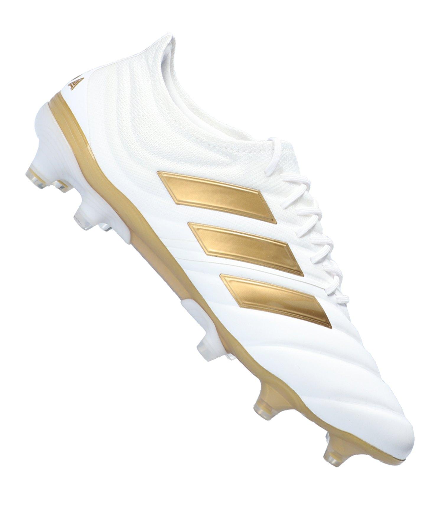 adidas COPA 19.1 FG Weiss Gold - weiss