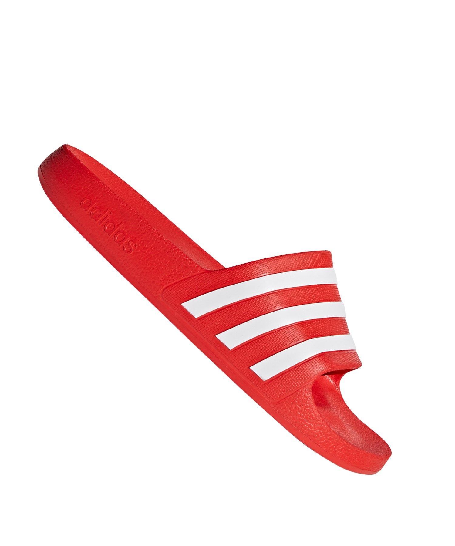 adidas Adilette Aqua Badelatsche Rot - rot
