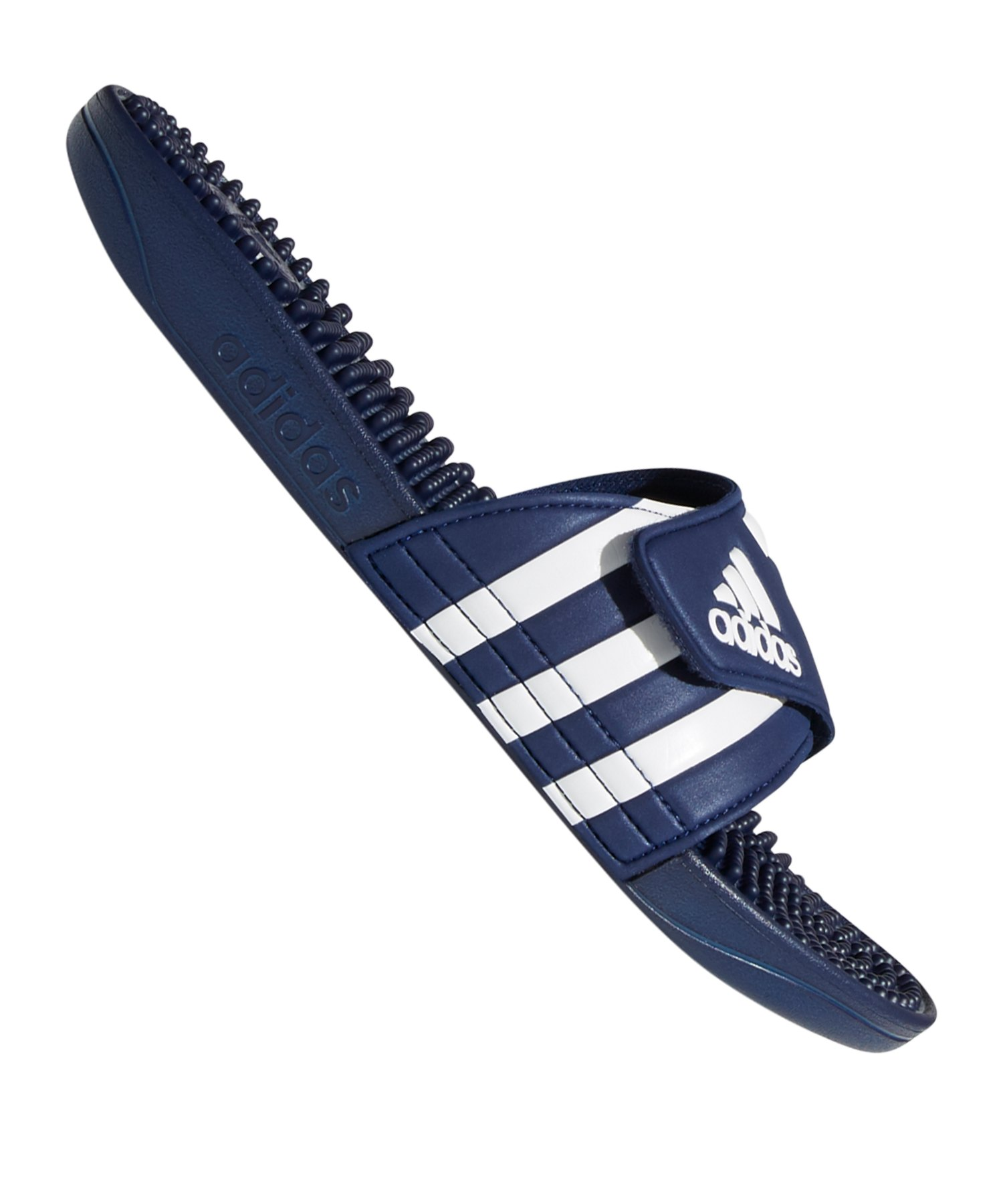 adidas Adissage Badelatsche Blau Weiss - blau