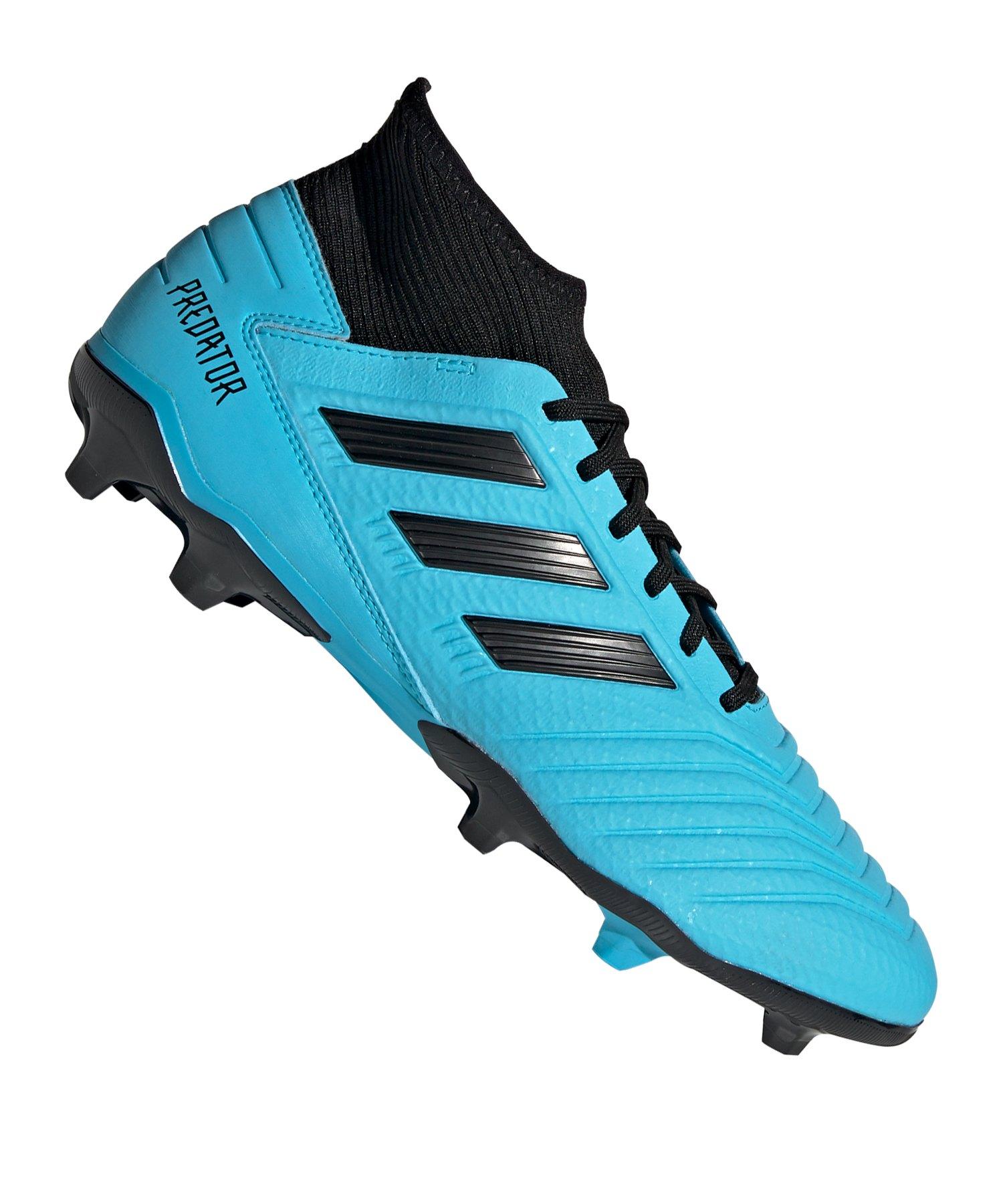 adidas Predator 19.3 FG Blau Schwarz - blau