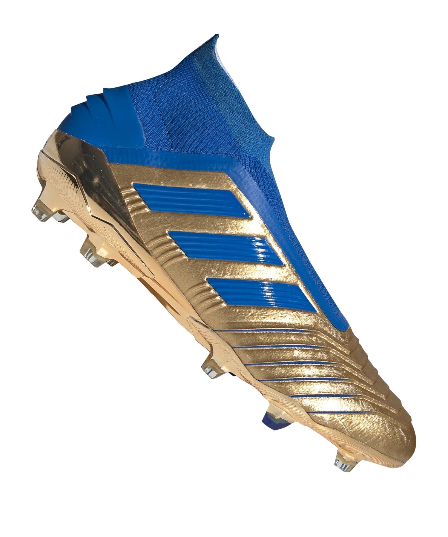 adidas Predator 19+ FG Gold Blau - gold