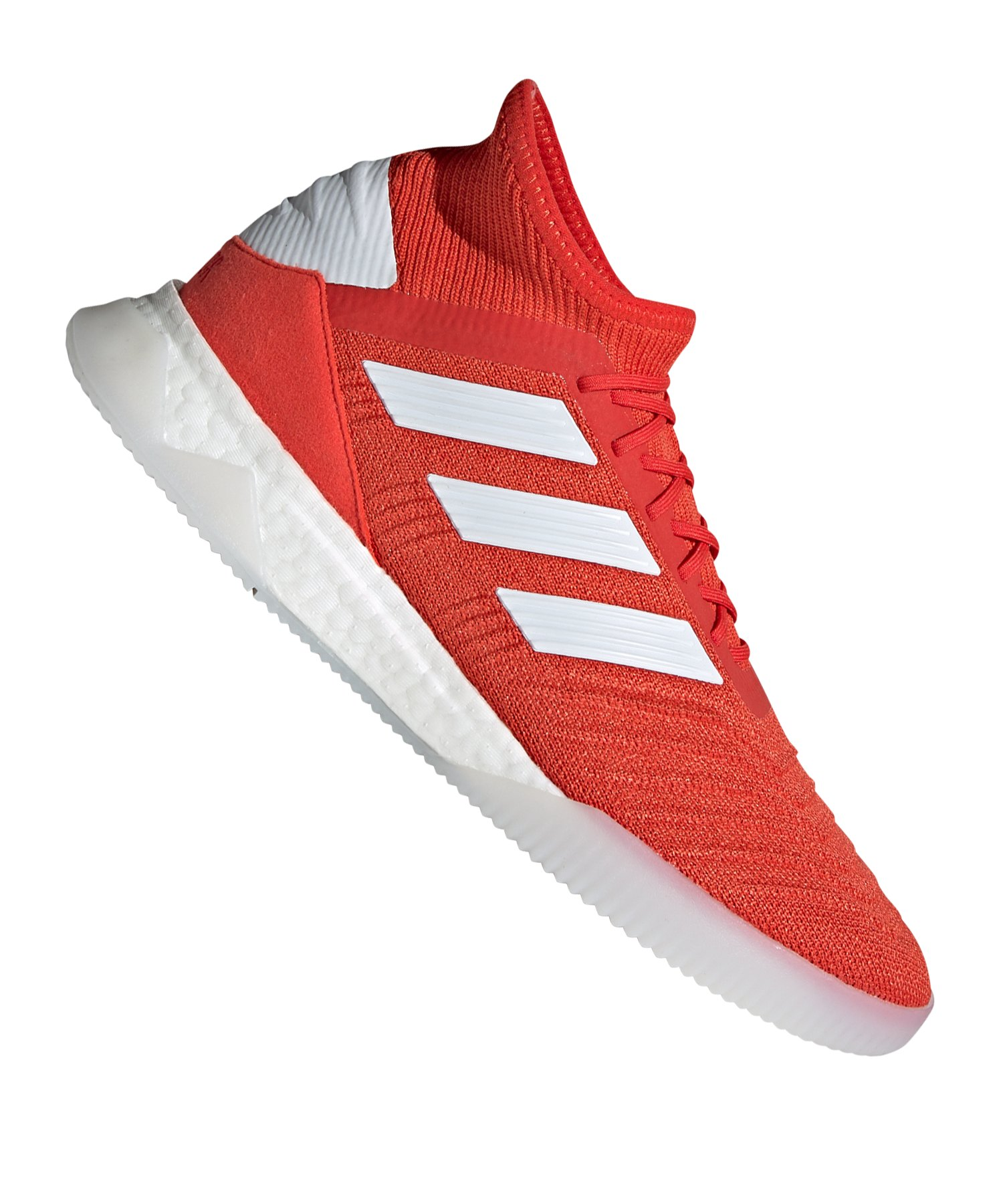 adidas Predator 19.1 TR Rot Silber Weiss - Rot