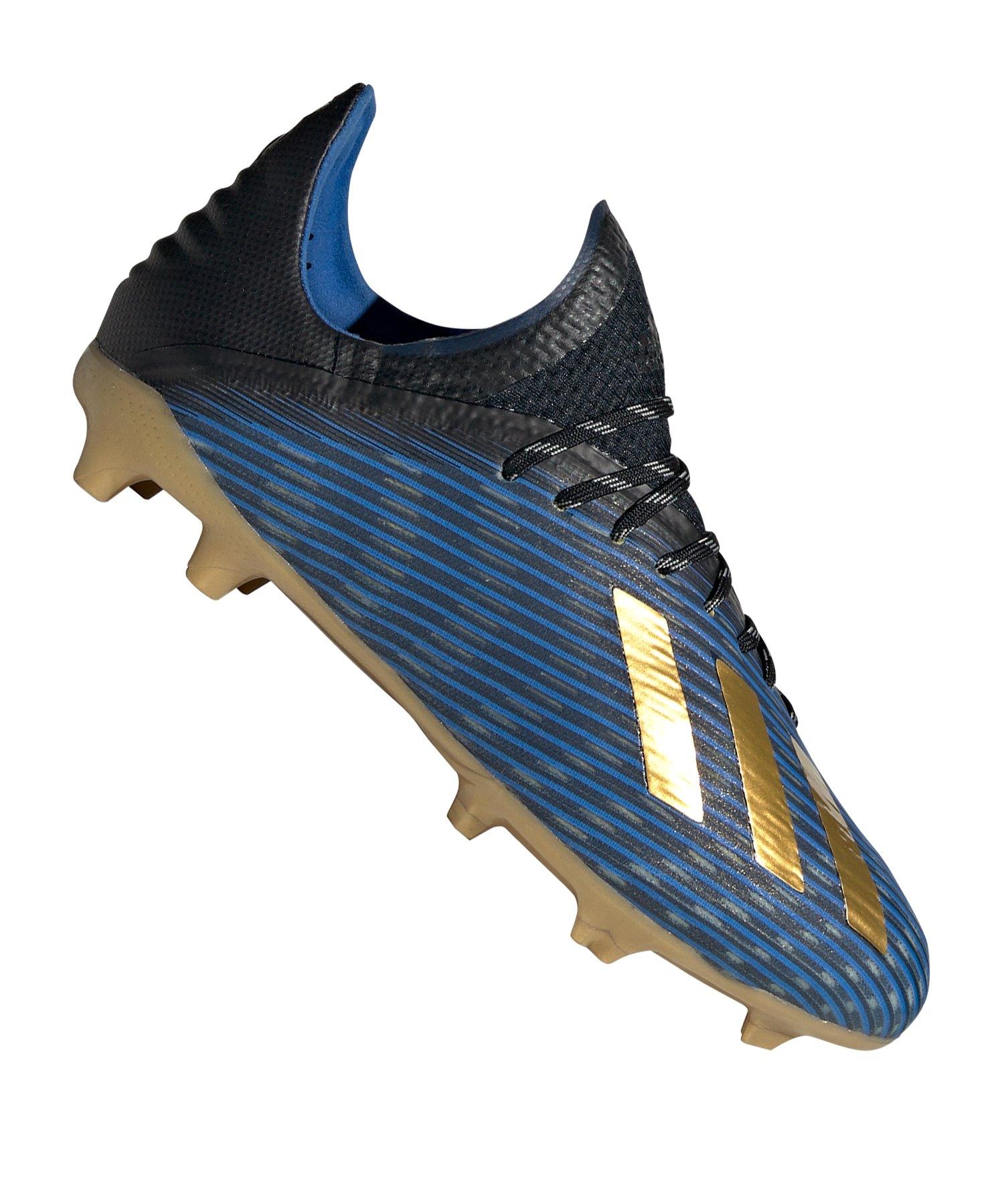 adidas X 19.1 FG J Kids Blau Gold Schwarz - blau