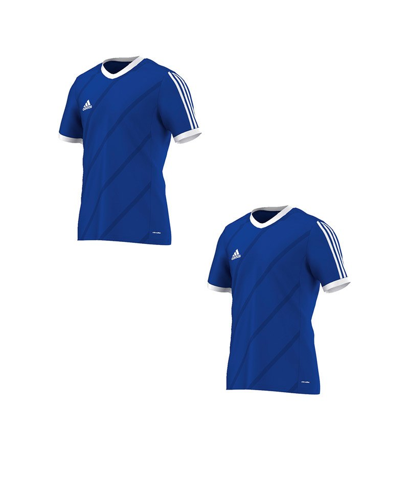 adidas Tabela 14 Trikot kurzarm Blau Weiss 2er Set - blau