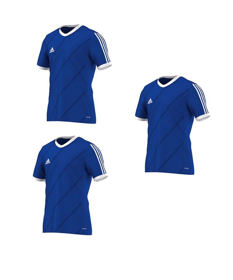 adidas Tabela 14 Trikot kurzarm Blau Weiss 3er Set - blau